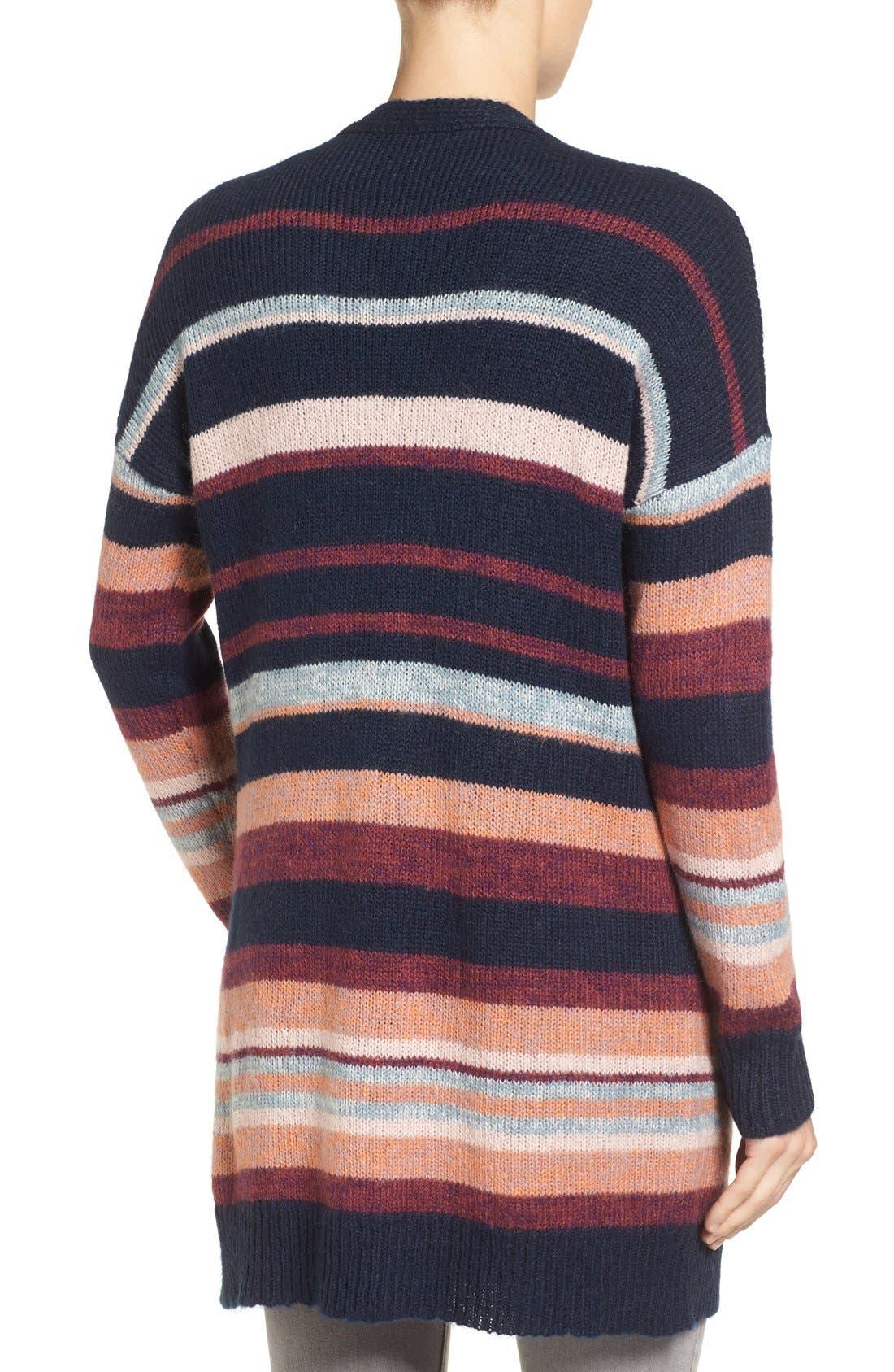Alternate Image 2  - Caslon® Long Stripe Cardigan