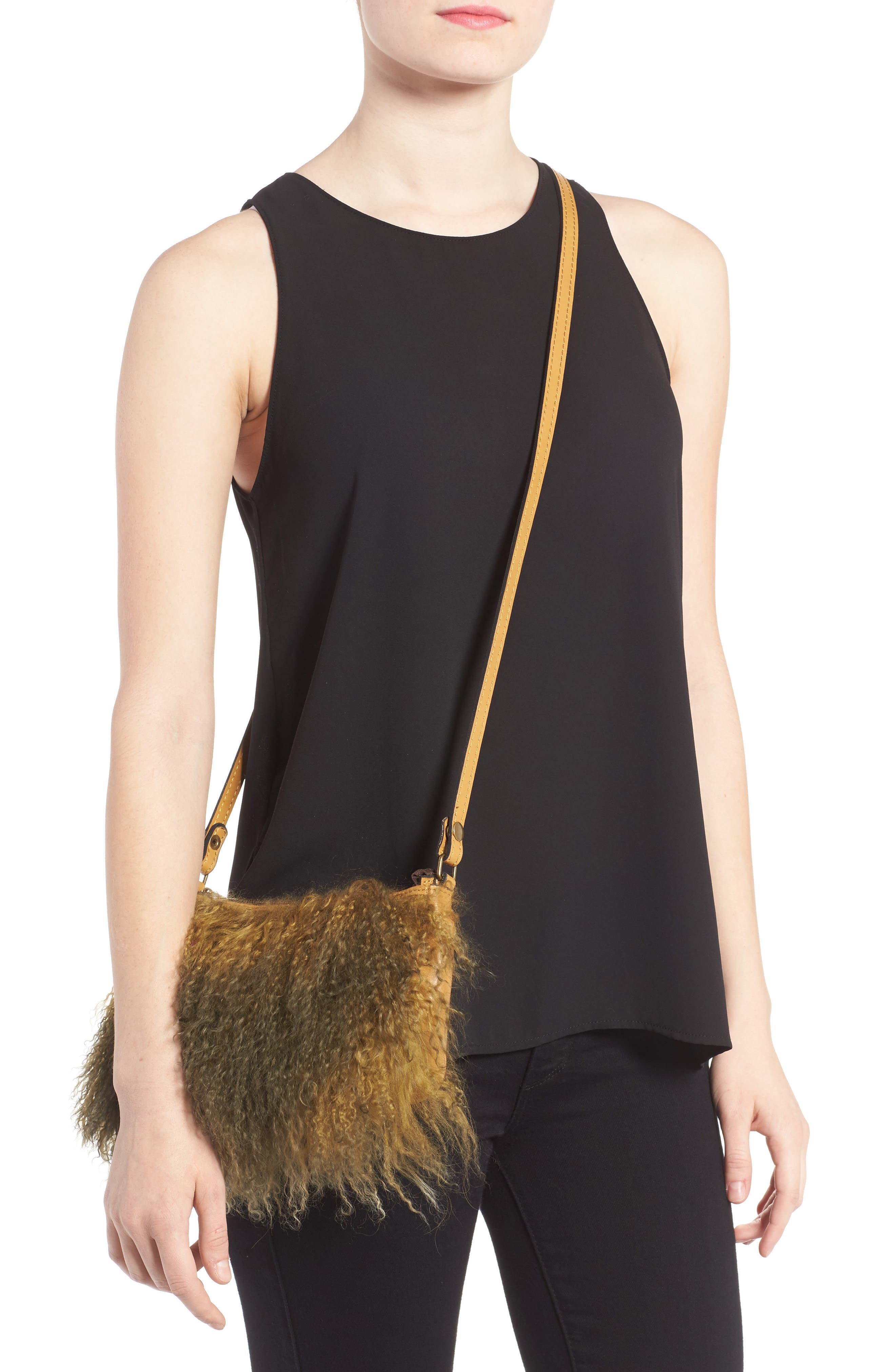 Alternate Image 2  - Patricia Nash Small Paulo Genuine Shearling Crossbody Bag