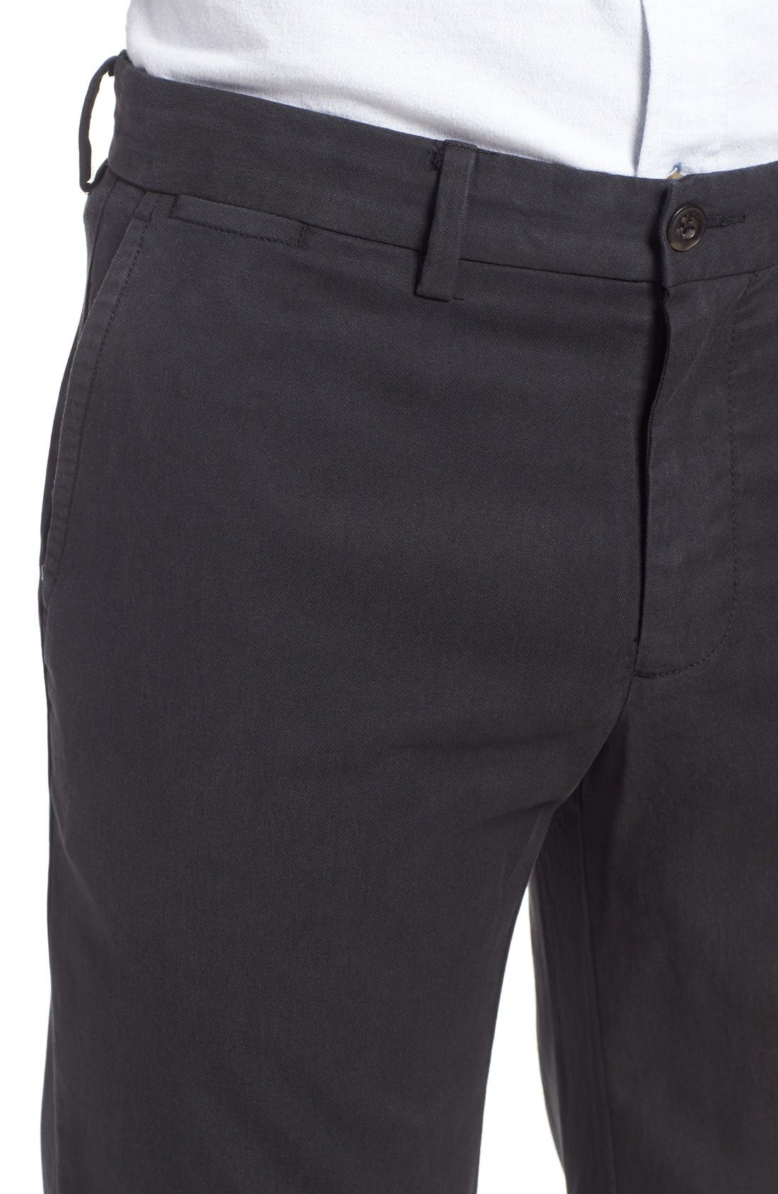 Offshore Flat Front Pants,                             Alternate thumbnail 4, color,                             Black