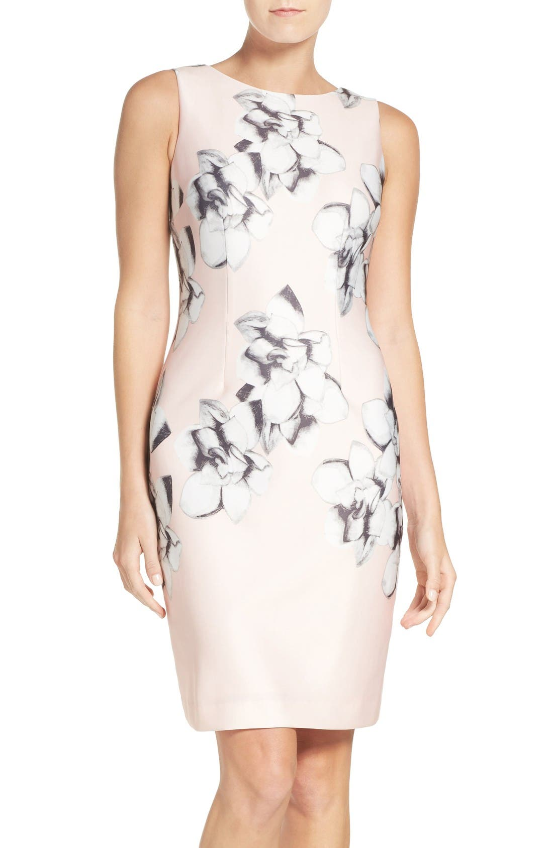 Main Image - Chetta B Scuba Sheath Dress