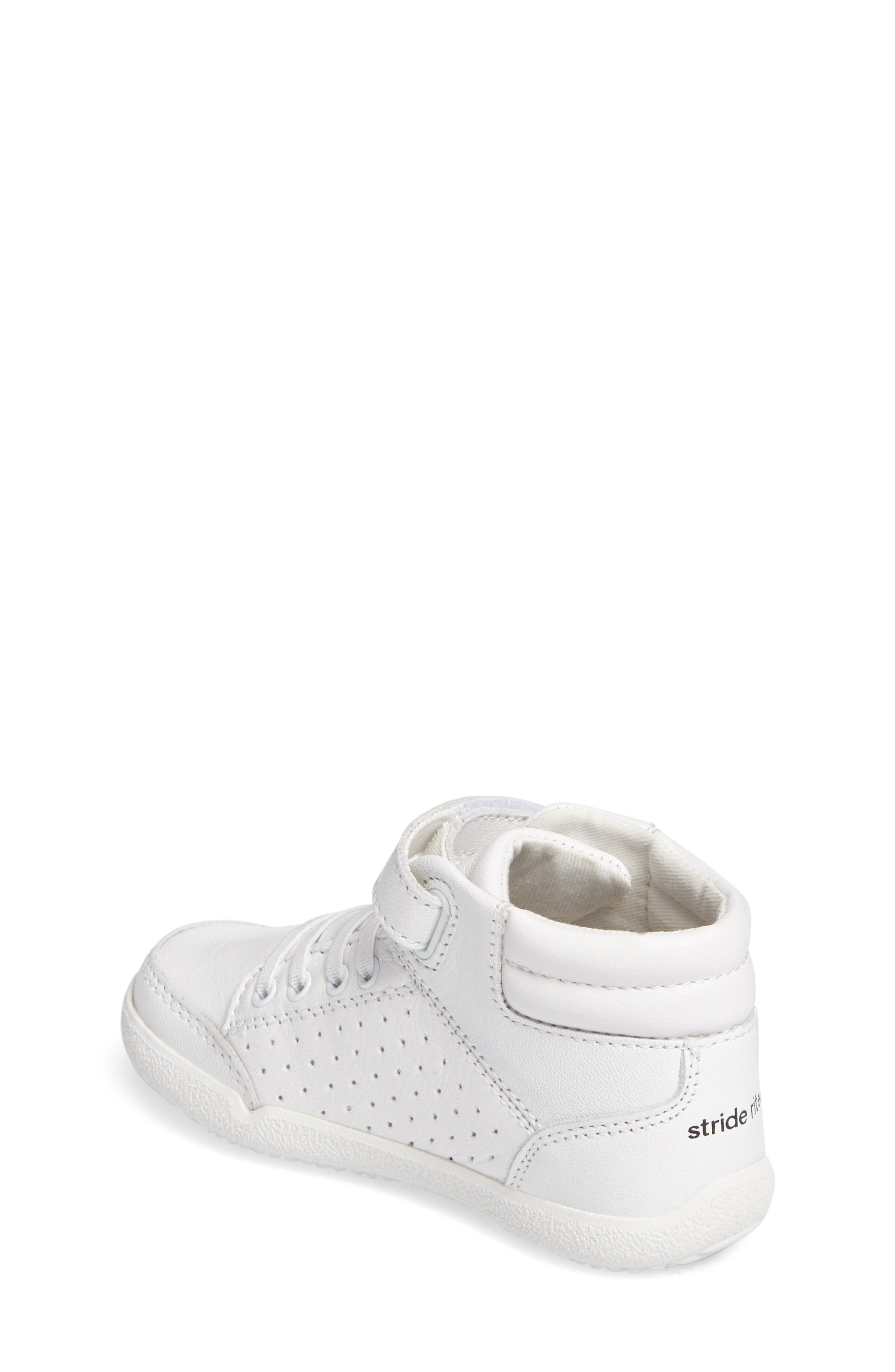 Alternate Image 2  - Stride Rite Stone High Top Sneaker (Baby, Walker & Toddler)