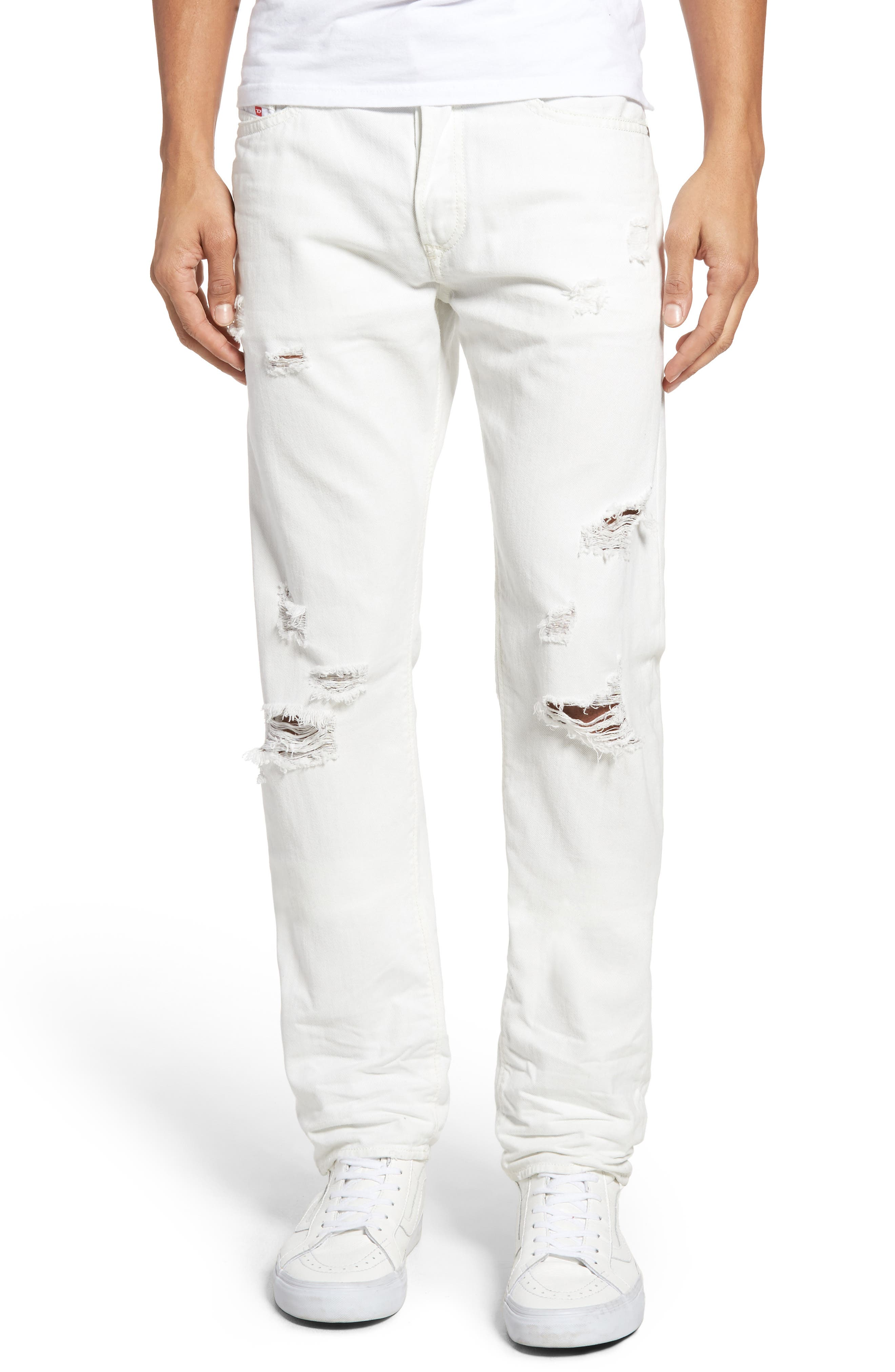 Alternate Image 1 Selected - DIESEL® Buster Slim Straight Leg Jeans (680K)