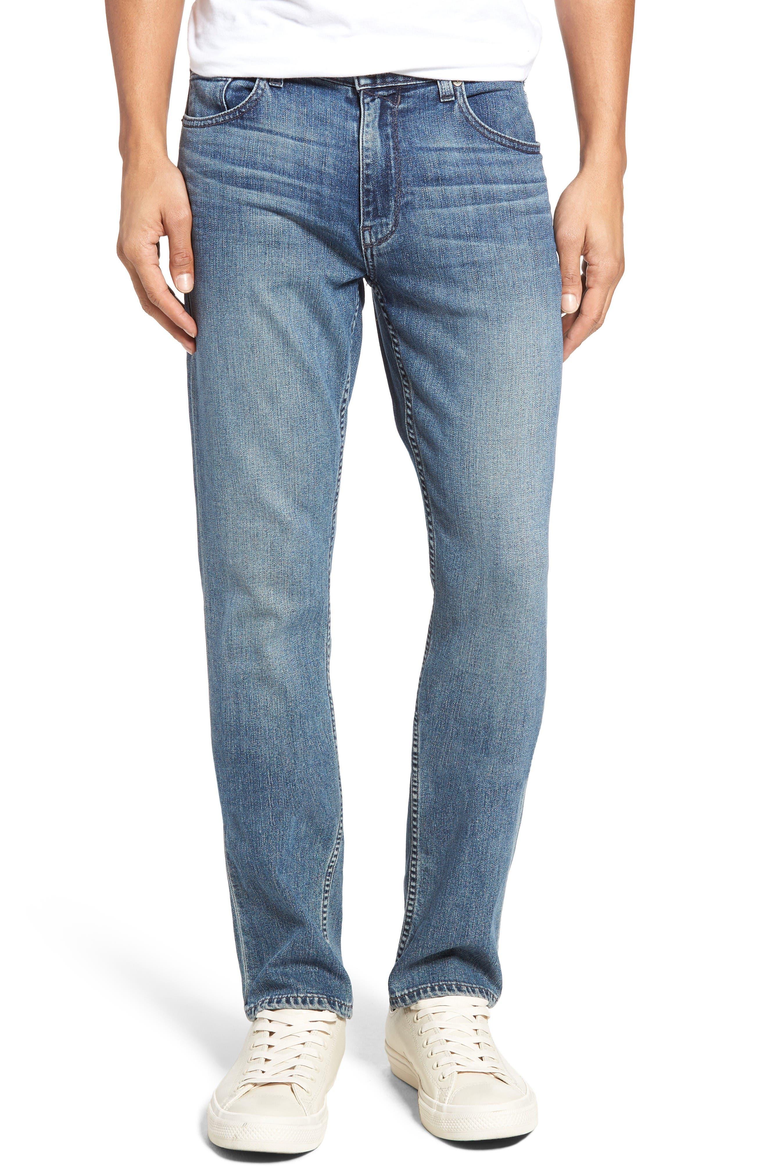 Main Image - PAIGE Normandie Straight Leg Jeans (Gibbs)
