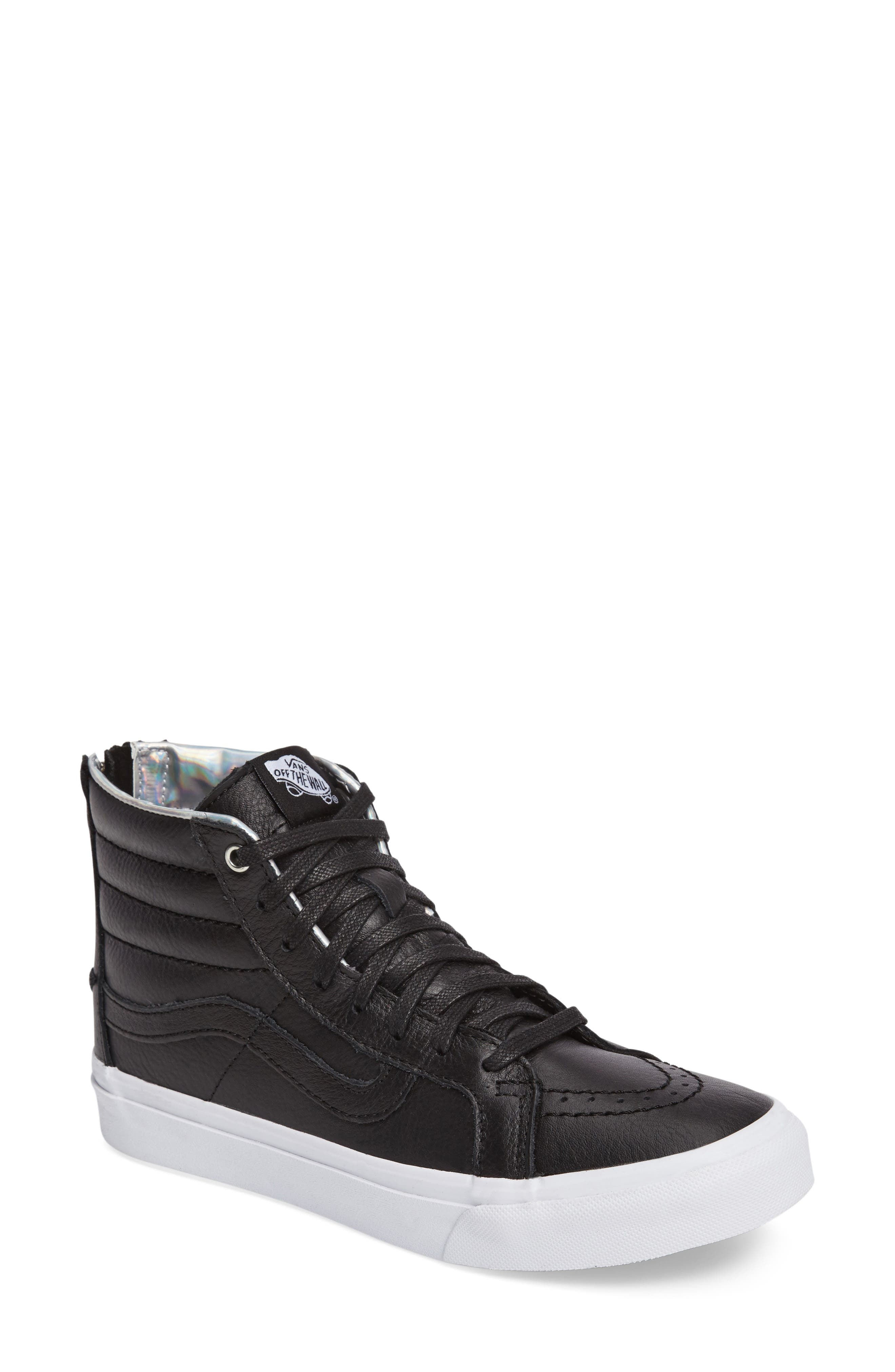 Main Image - Vans 'Sk8-Hi Slim' Metallic Leather Sneaker (Women)