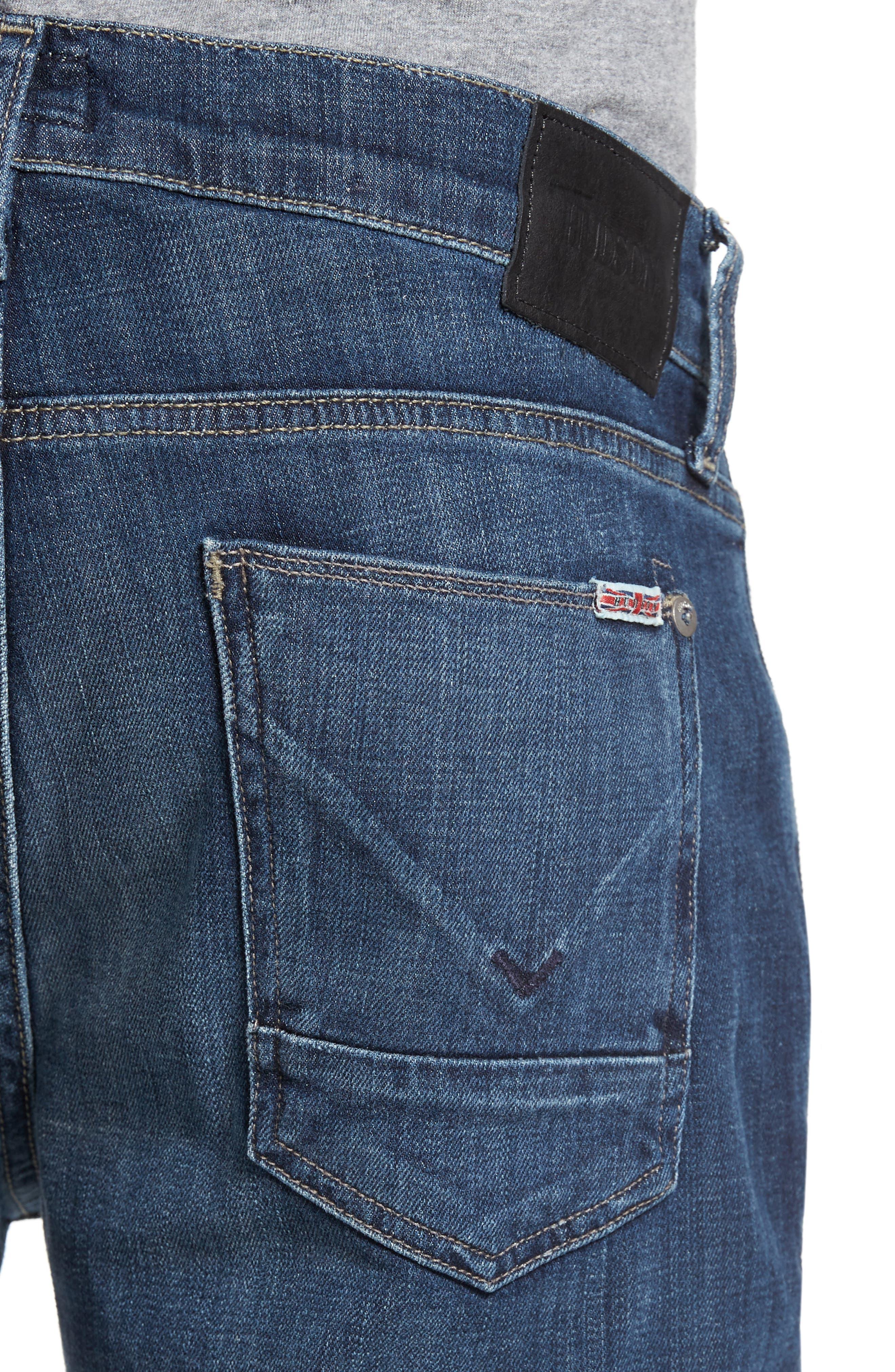 Alternate Image 4  - Hudson Jeans Byron Slim Straight Leg Jean (Harris)