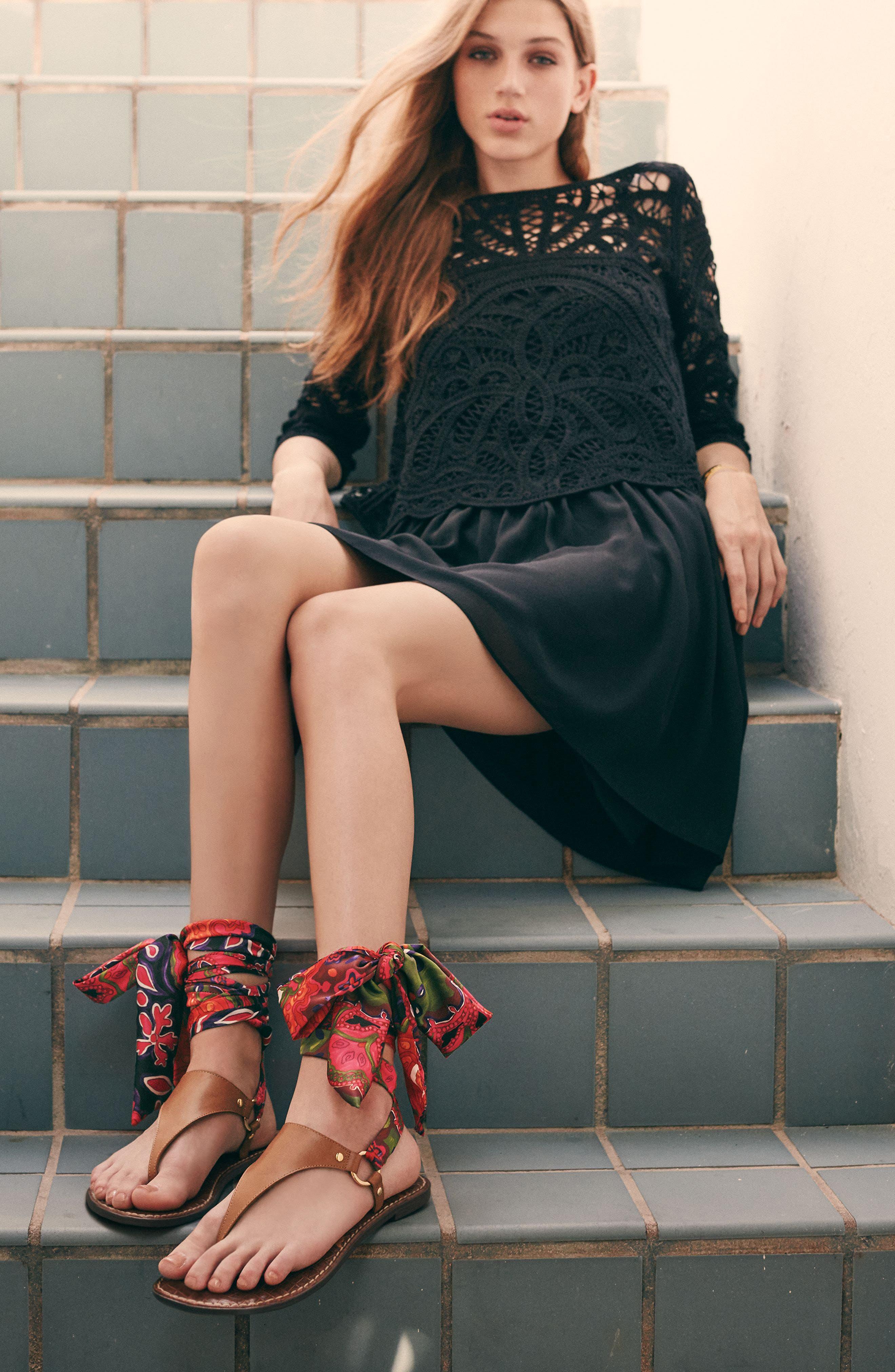Alternate Image 5  - Sam Edelman Giliana Ankle Tie Thong Sandal (Women)