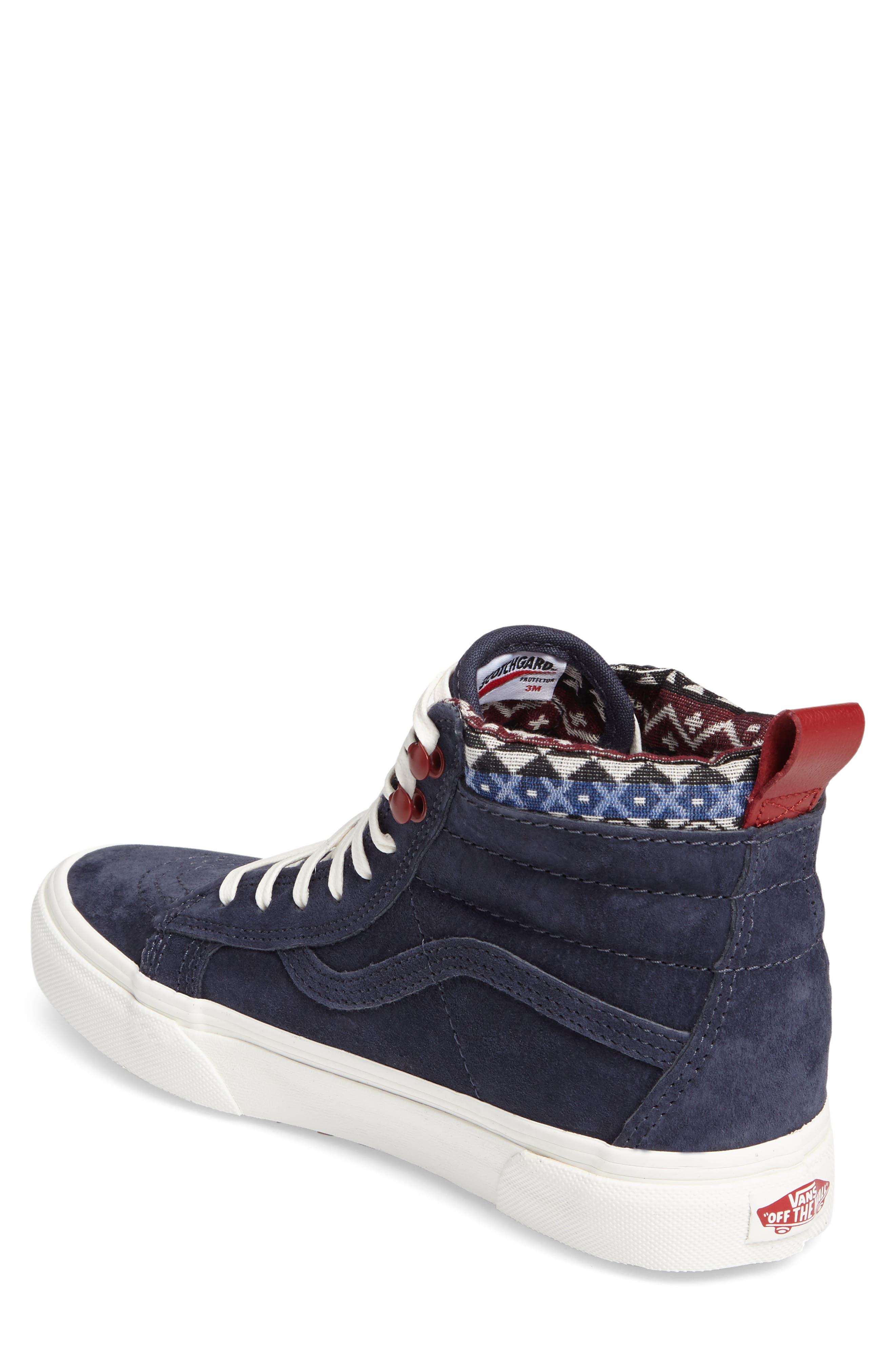Sk-8 Hi MTE Sneaker,                             Alternate thumbnail 2, color,                             Parisian Night/ Blue Suede