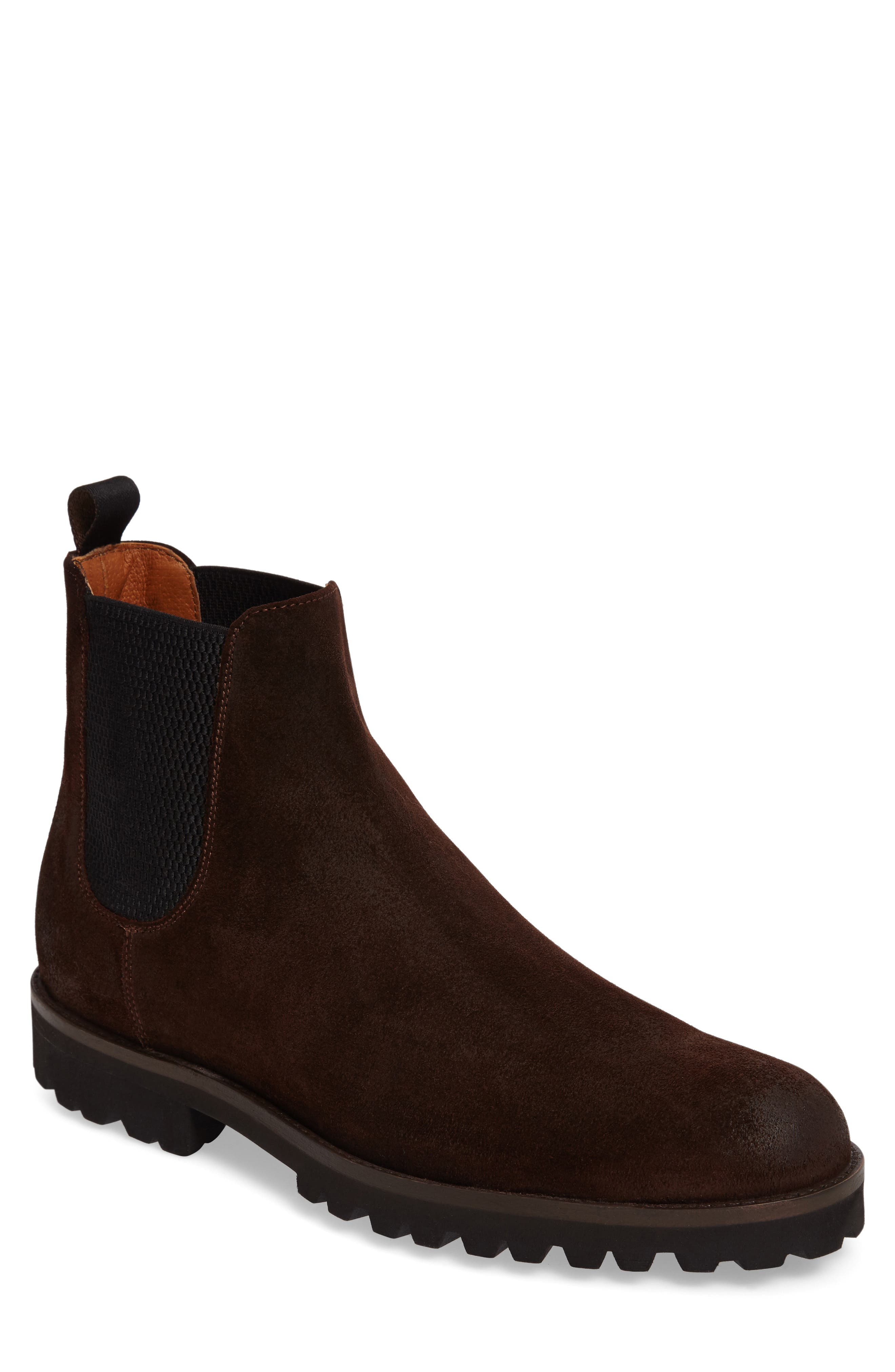Edwin Chelsea Boot,                         Main,                         color, Dark Brown Suede