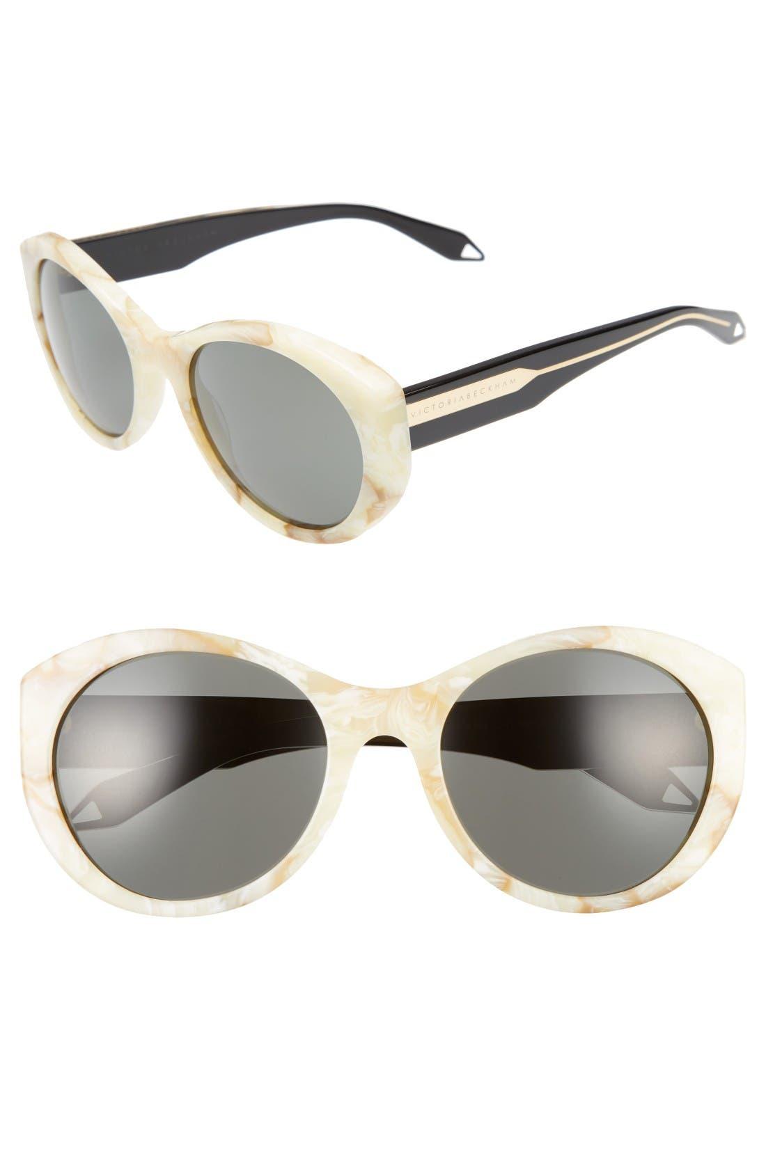 Alternate Image 1 Selected - Victoria Beckham Fine Oval 59mm Sunglasses