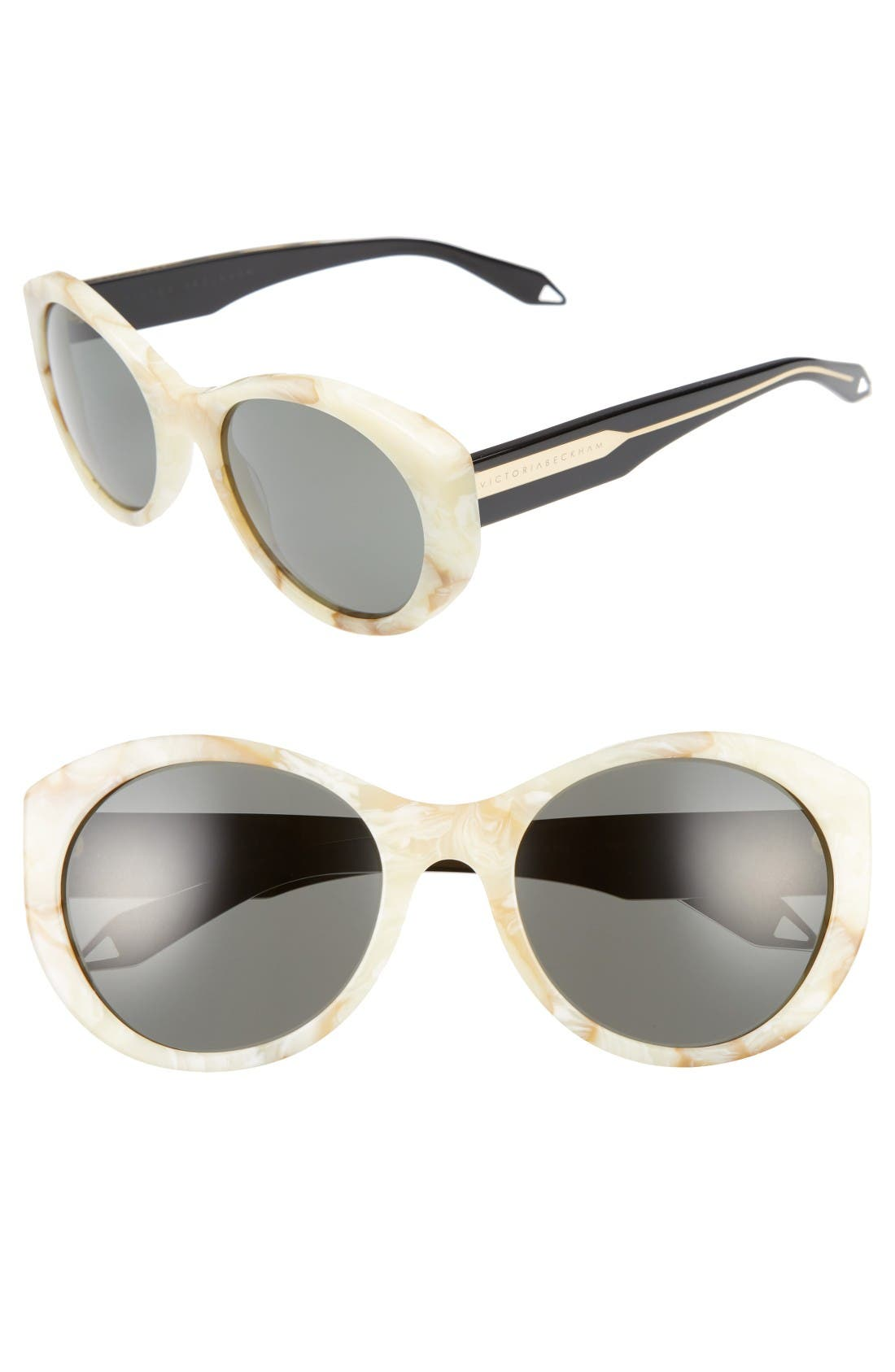 Main Image - Victoria Beckham Fine Oval 59mm Sunglasses