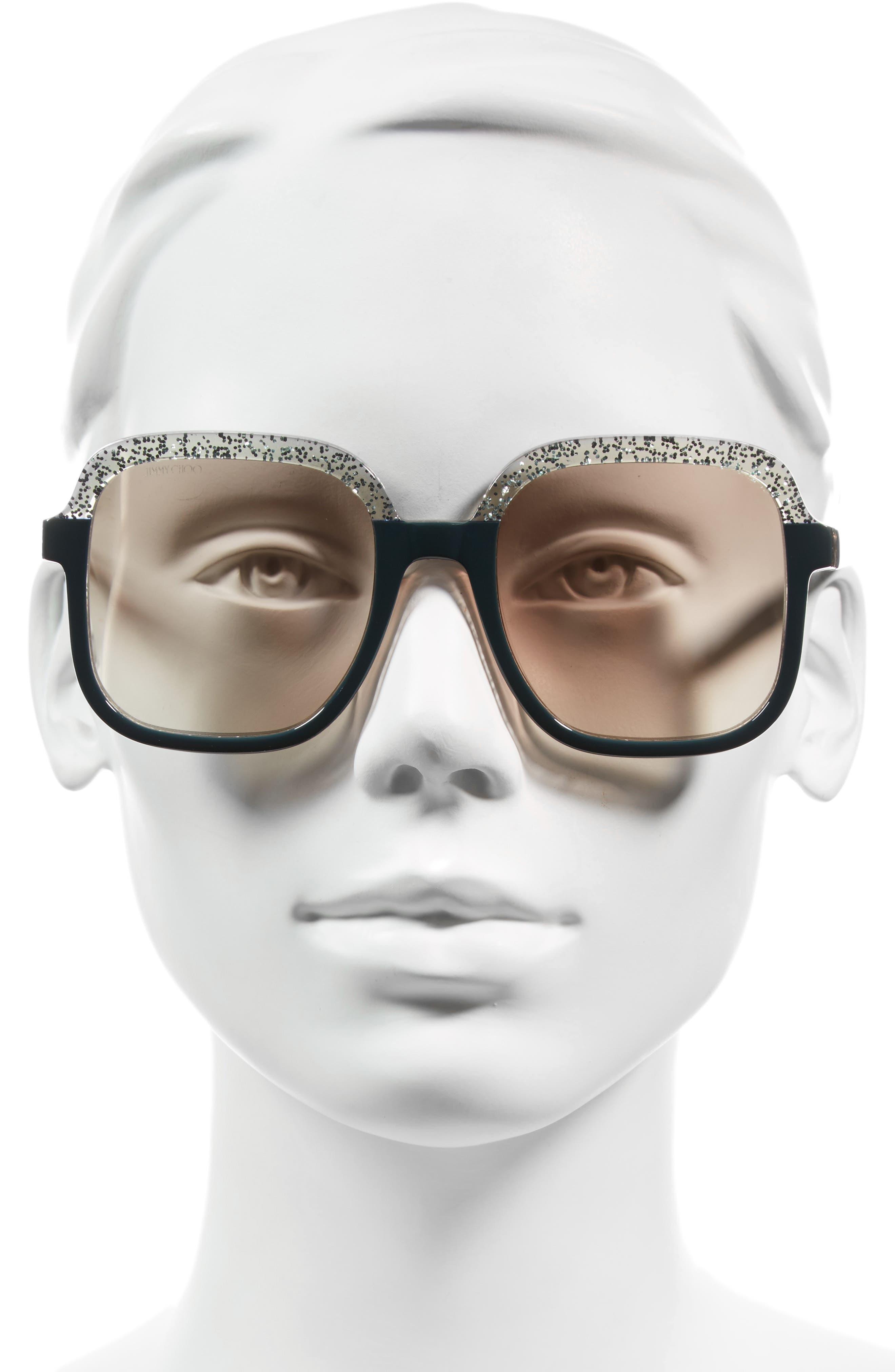 Alternate Image 2  - Jimmy Choo 53mm Glitter Frame Sunglasses