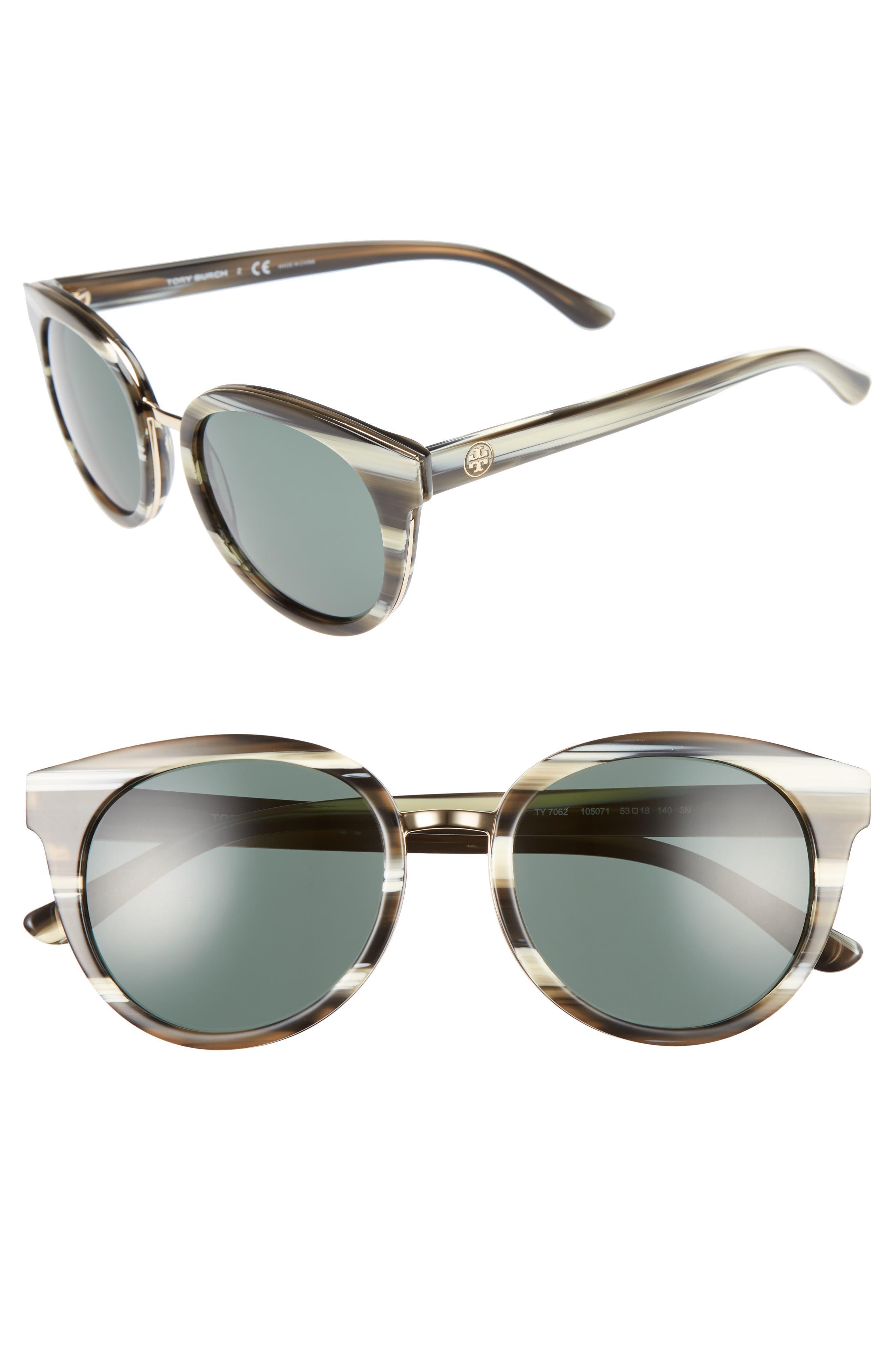 53mm Sunglasses,                         Main,                         color, Olive