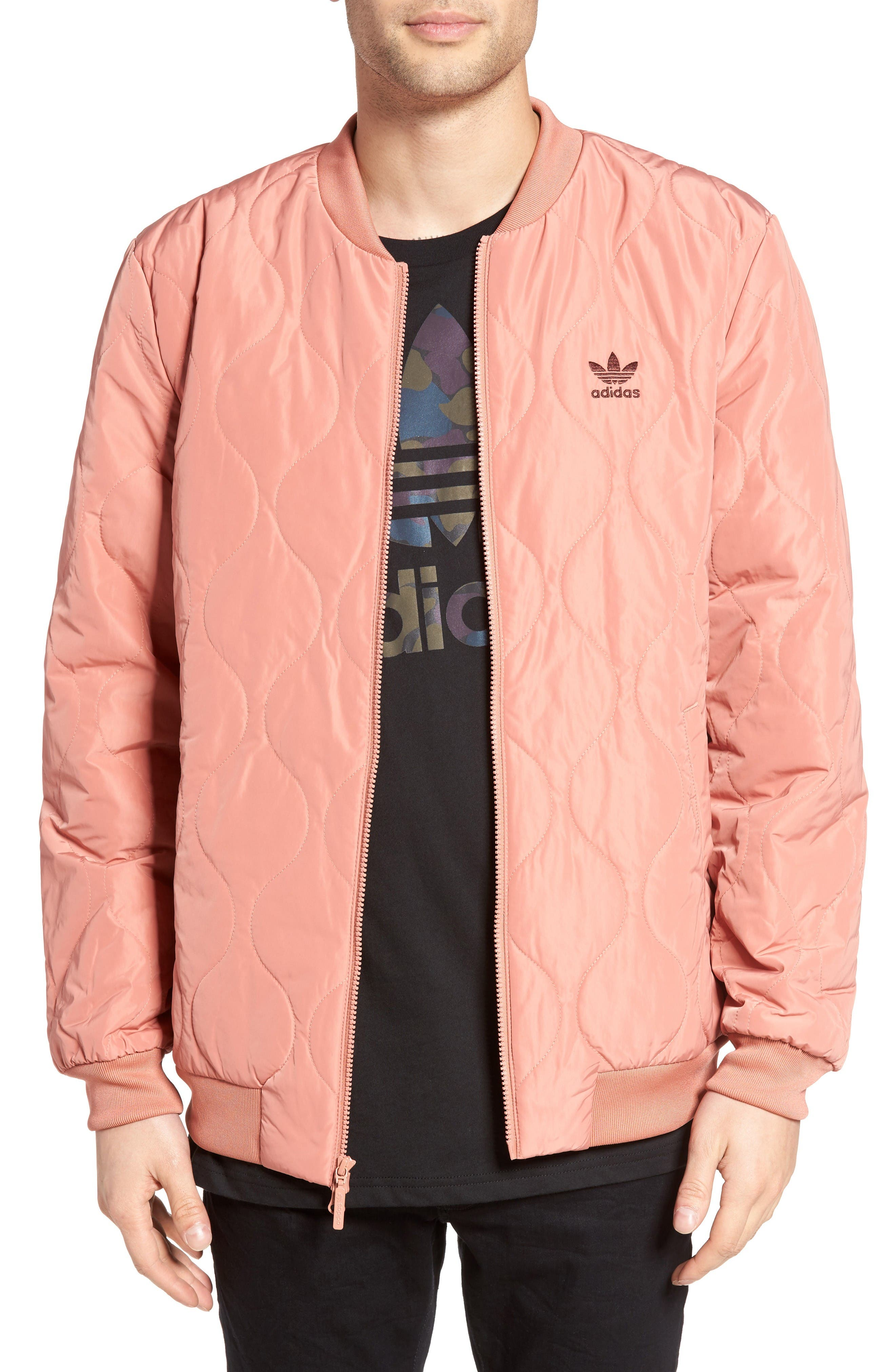 Main Image - adidas Originals Quilted Bomber Jacket