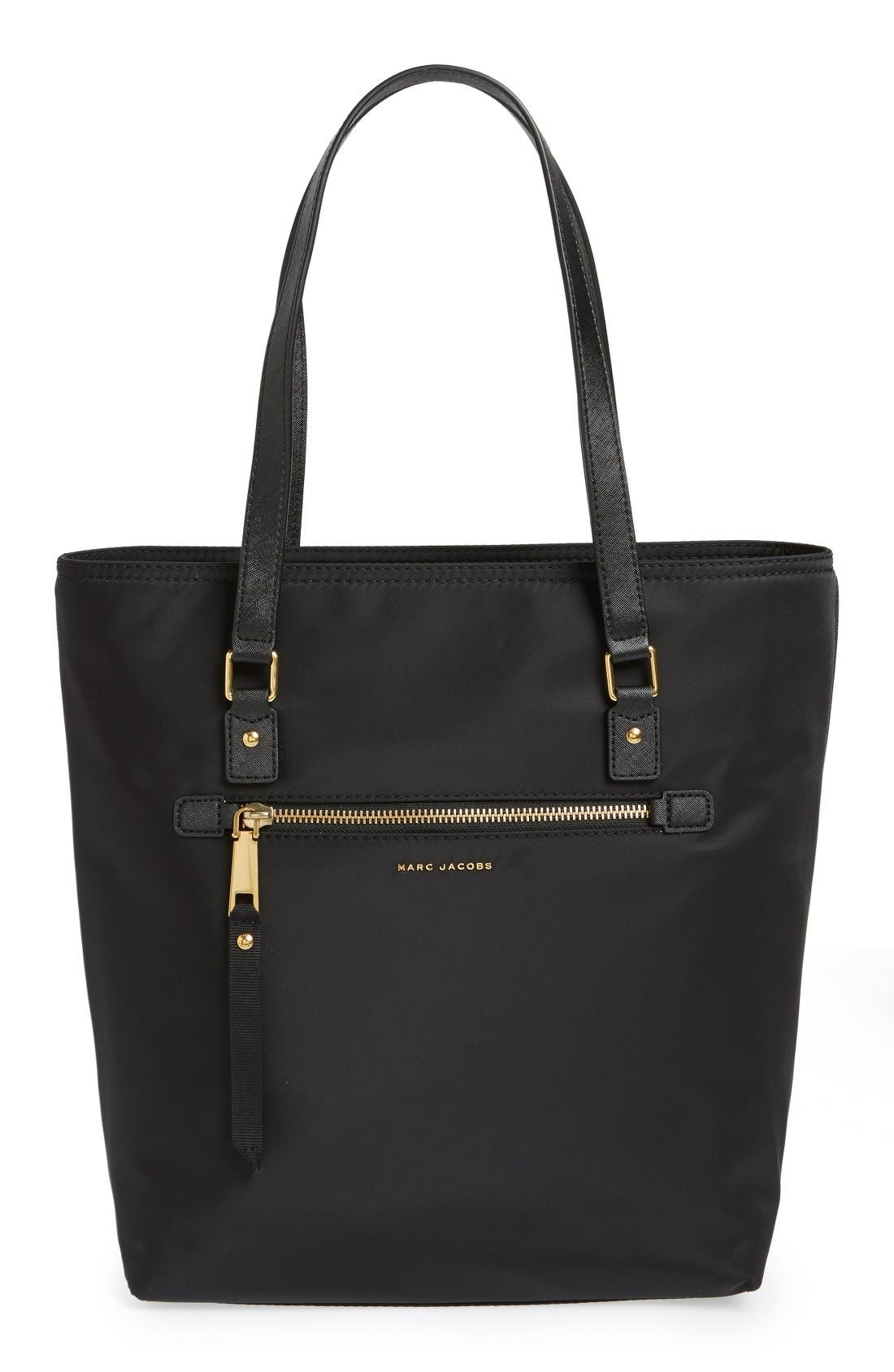 Trooper Nylon Tote,                         Main,                         color, Black