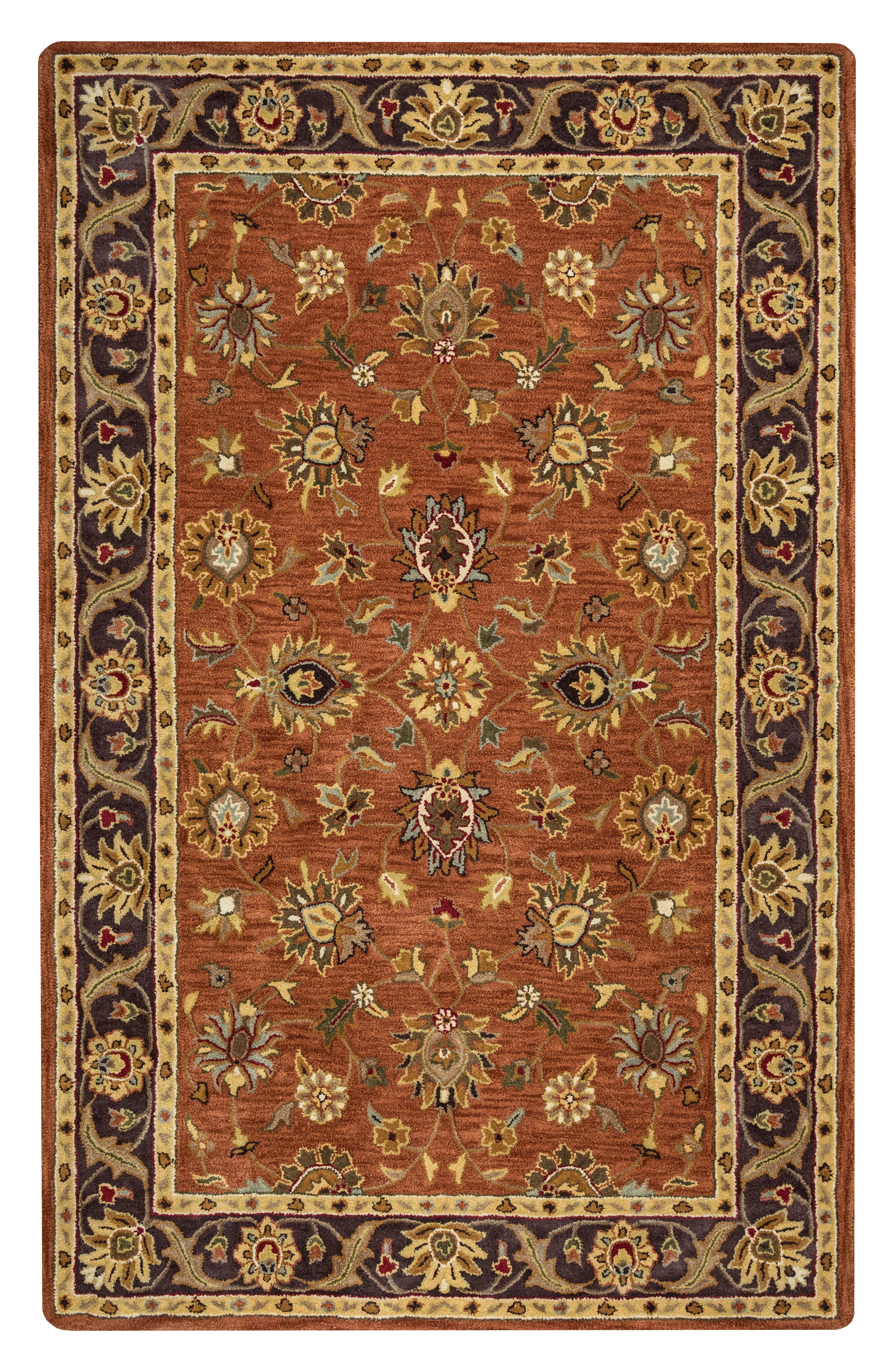 Amalia Hand Tufted Wool Area Rug,                             Main thumbnail 1, color,                             Rust/ Multi