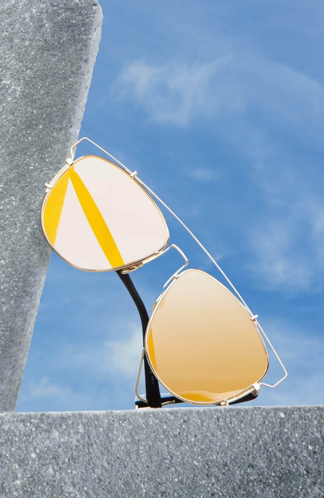 Technologic 57mm Brow Bar Sunglasses,                             Alternate thumbnail 3, color,