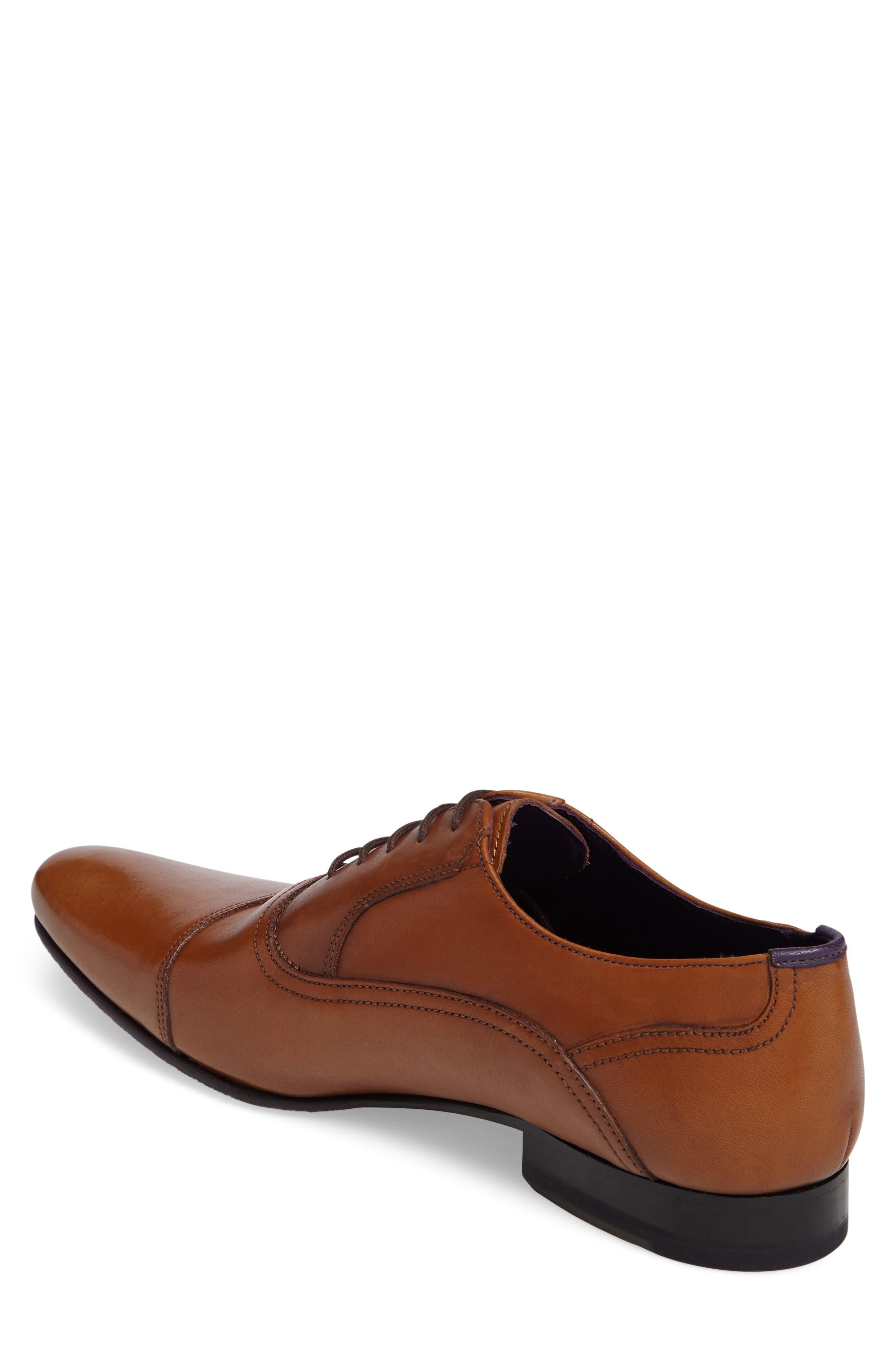 Rogrr 3 Cap Toe Oxford,                             Alternate thumbnail 2, color,                             Tan Leather