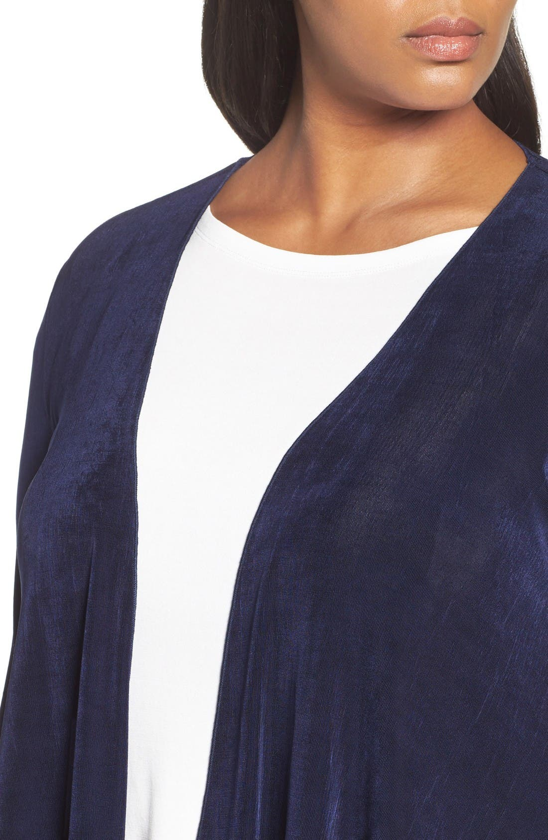 Open Front Swing Cardigan,                             Alternate thumbnail 4, color,                             Navy