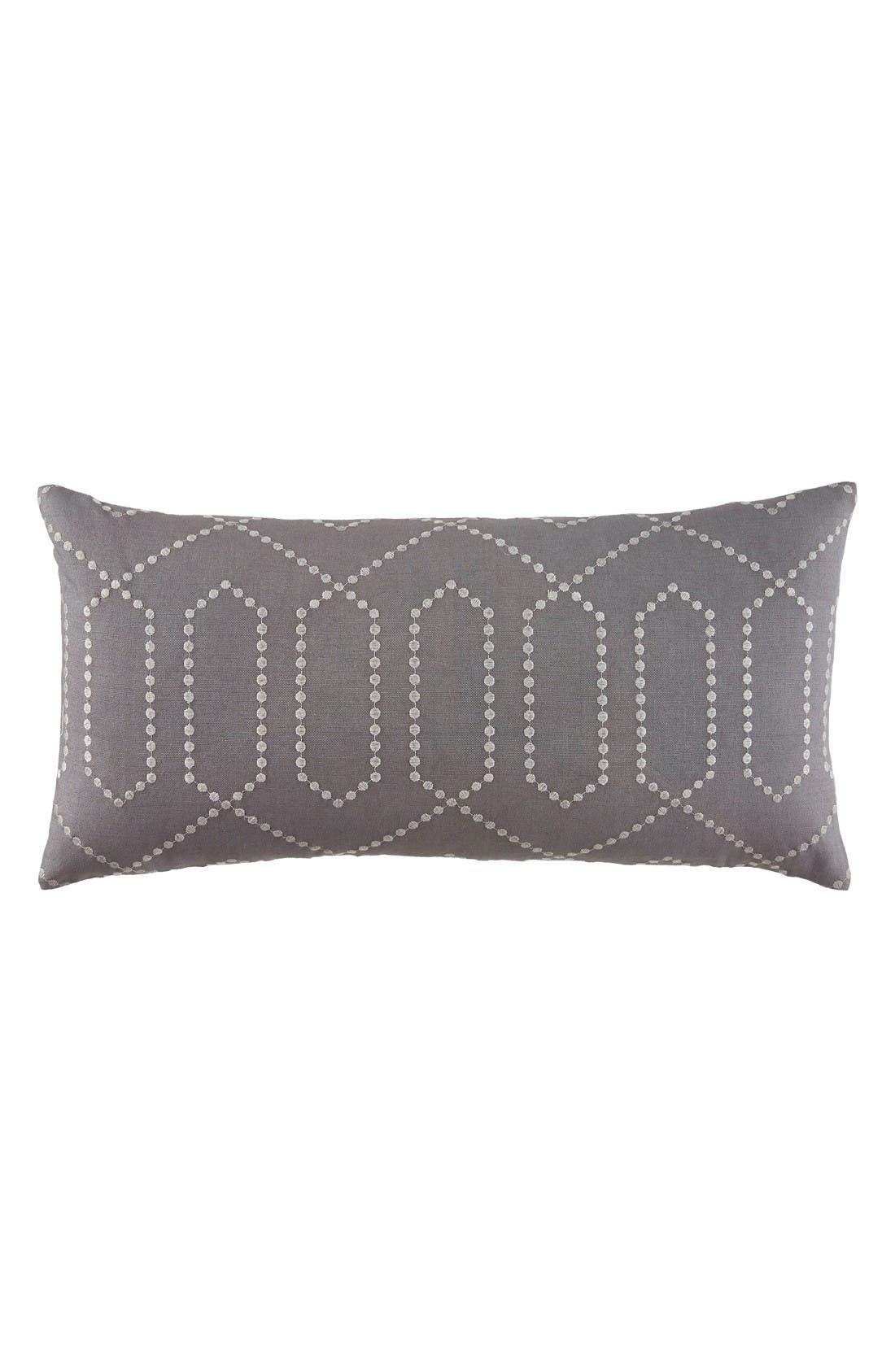 Decor Trellis Accent Pillow,                             Main thumbnail 1, color,                             Grey