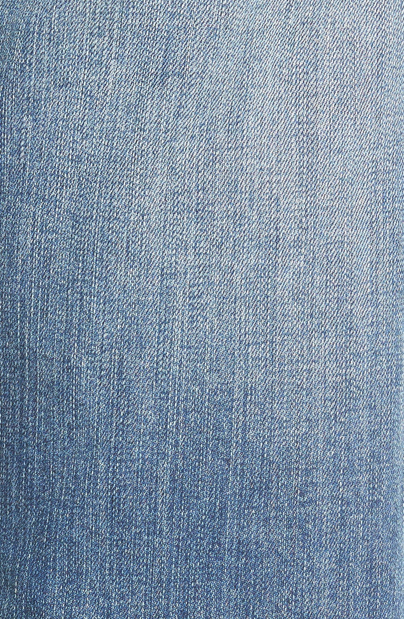 Alternate Image 6  - Caslon® Distressed Roll Cuff Crop Jeans (Regular & Petite) (Blue Sandwash)