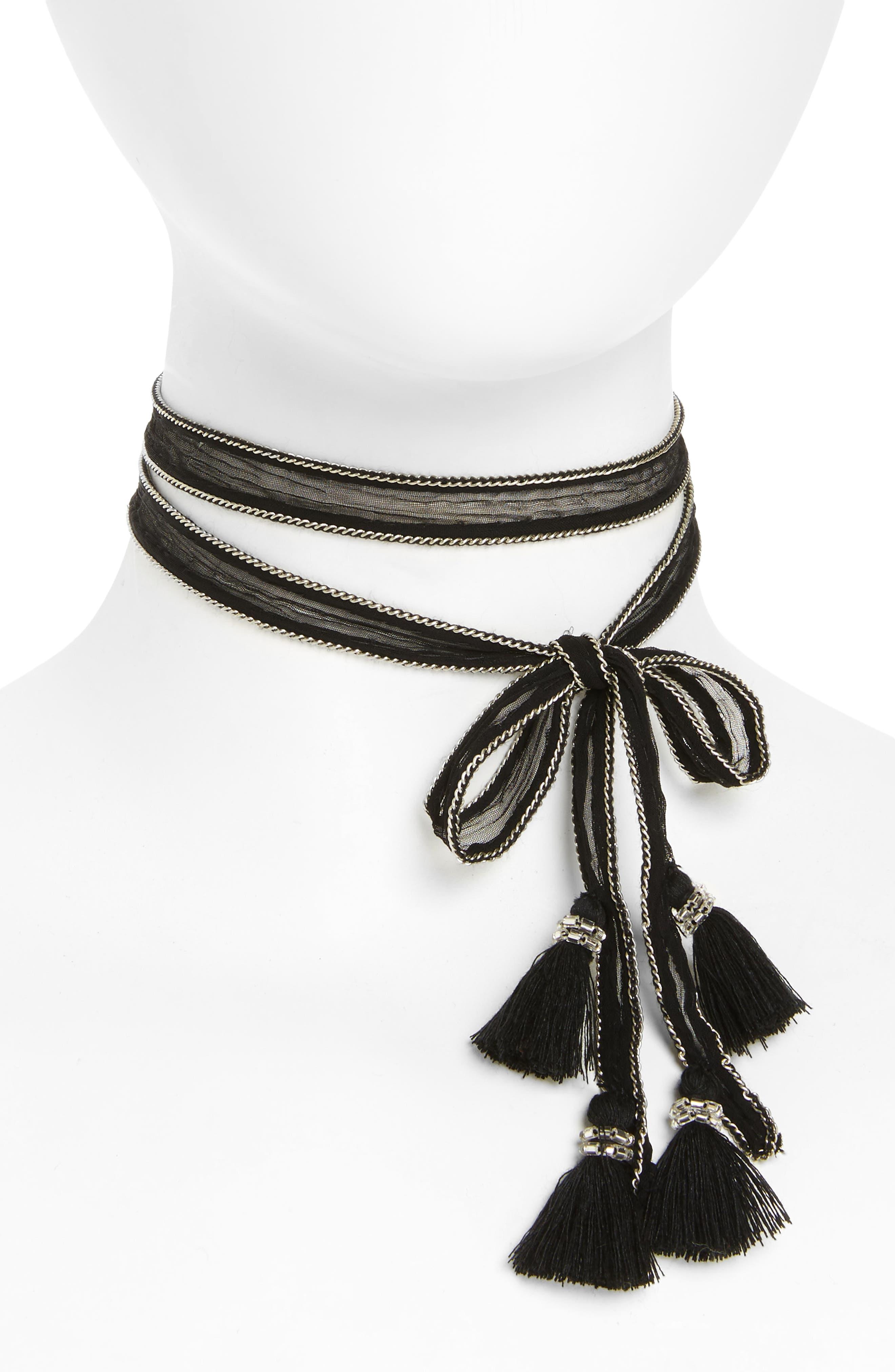 Main Image - Chan Luu Chiffon Tie Necklace