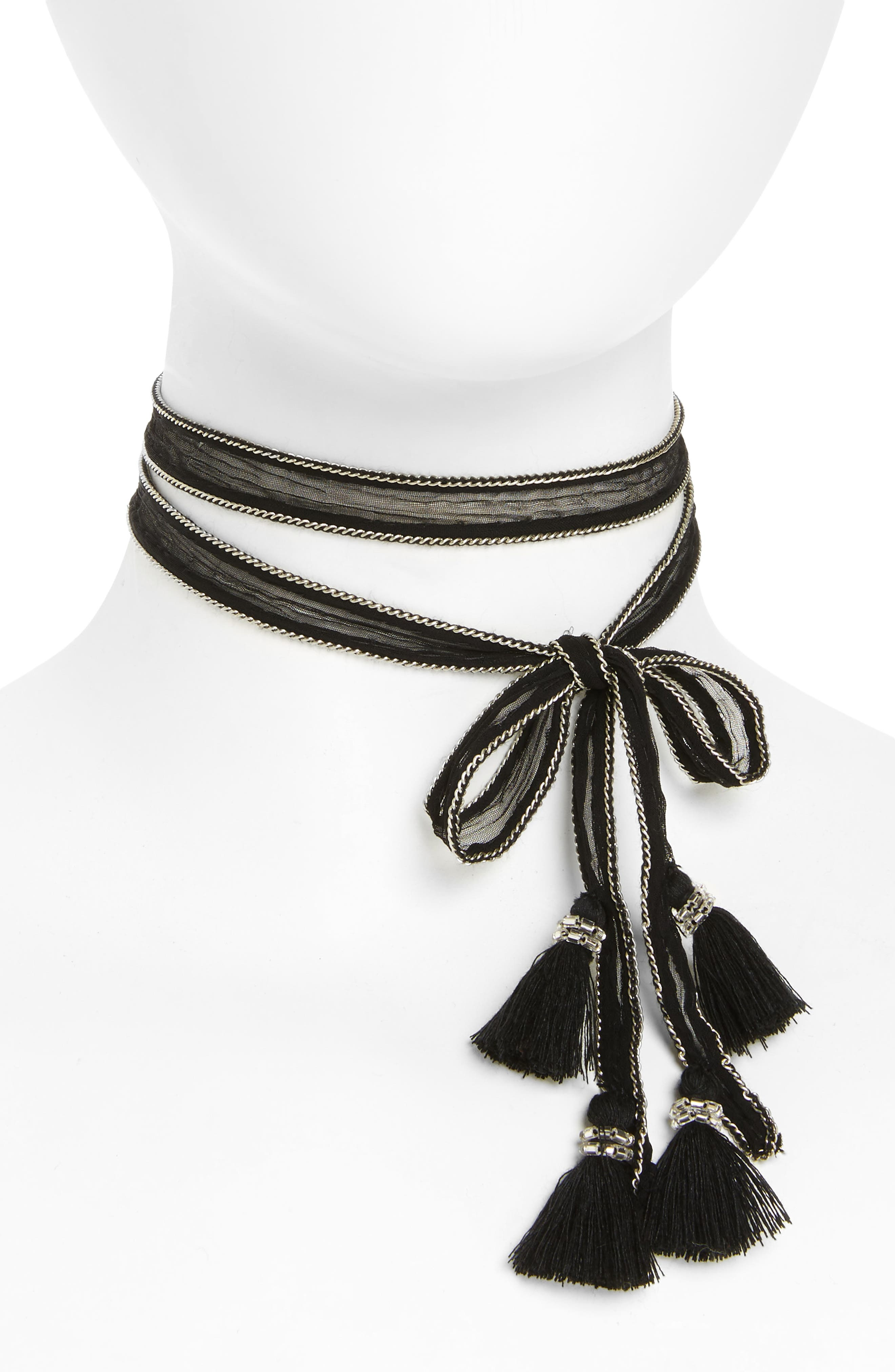 Chan Luu Chiffon Tie Necklace