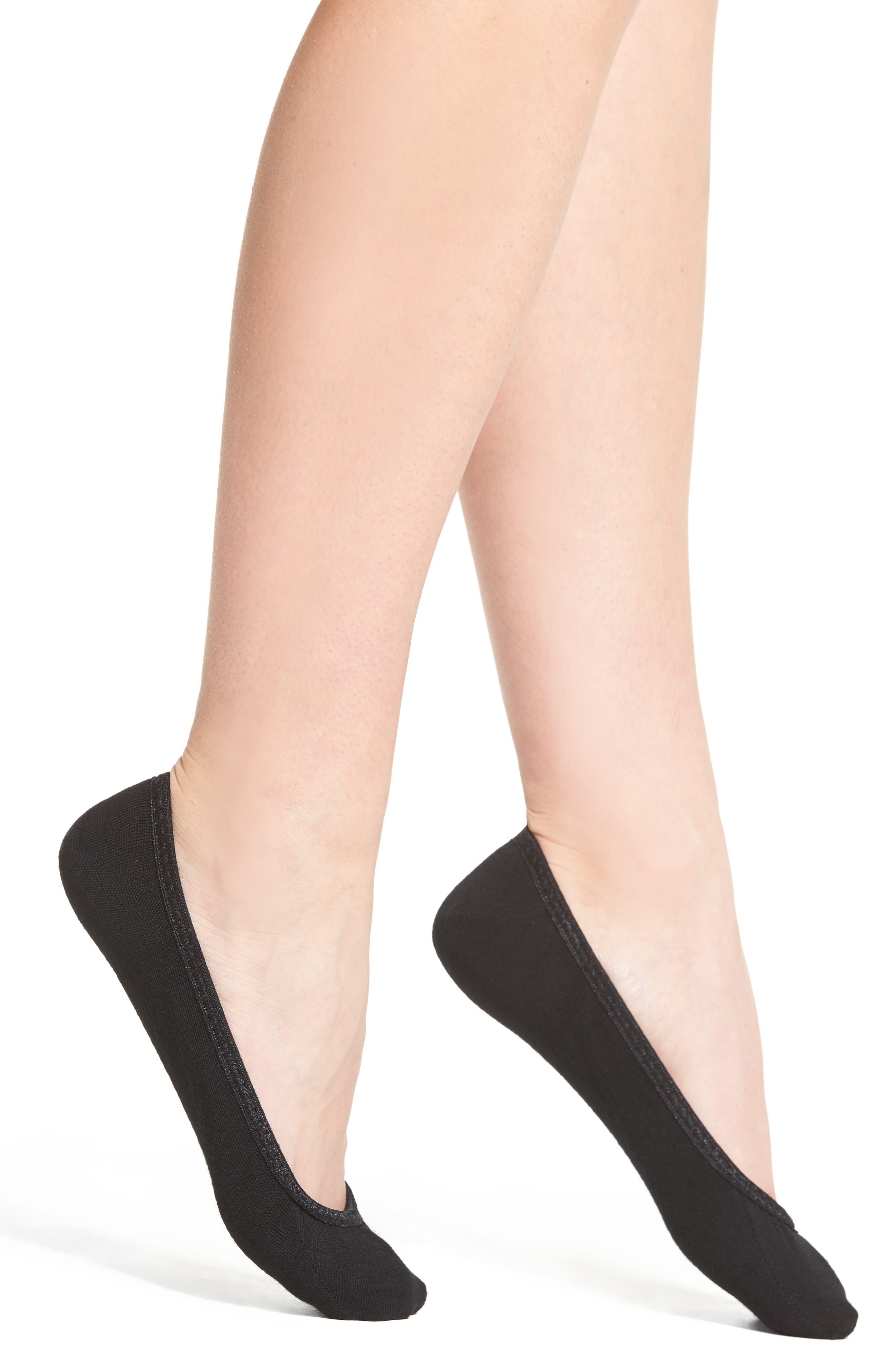 Secret Sleuth No-Show Socks,                             Main thumbnail 1, color,                             Black