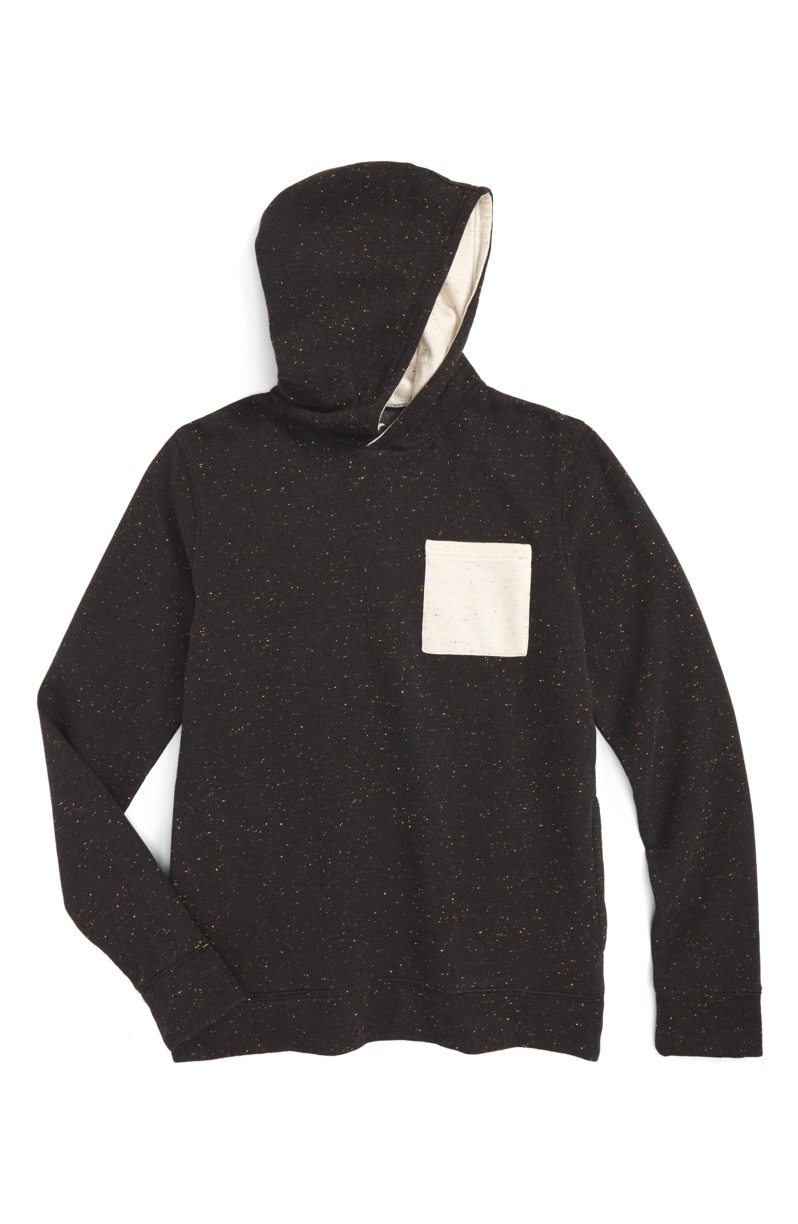 Nep Hoodie,                         Main,                         color, Black Multi Neps