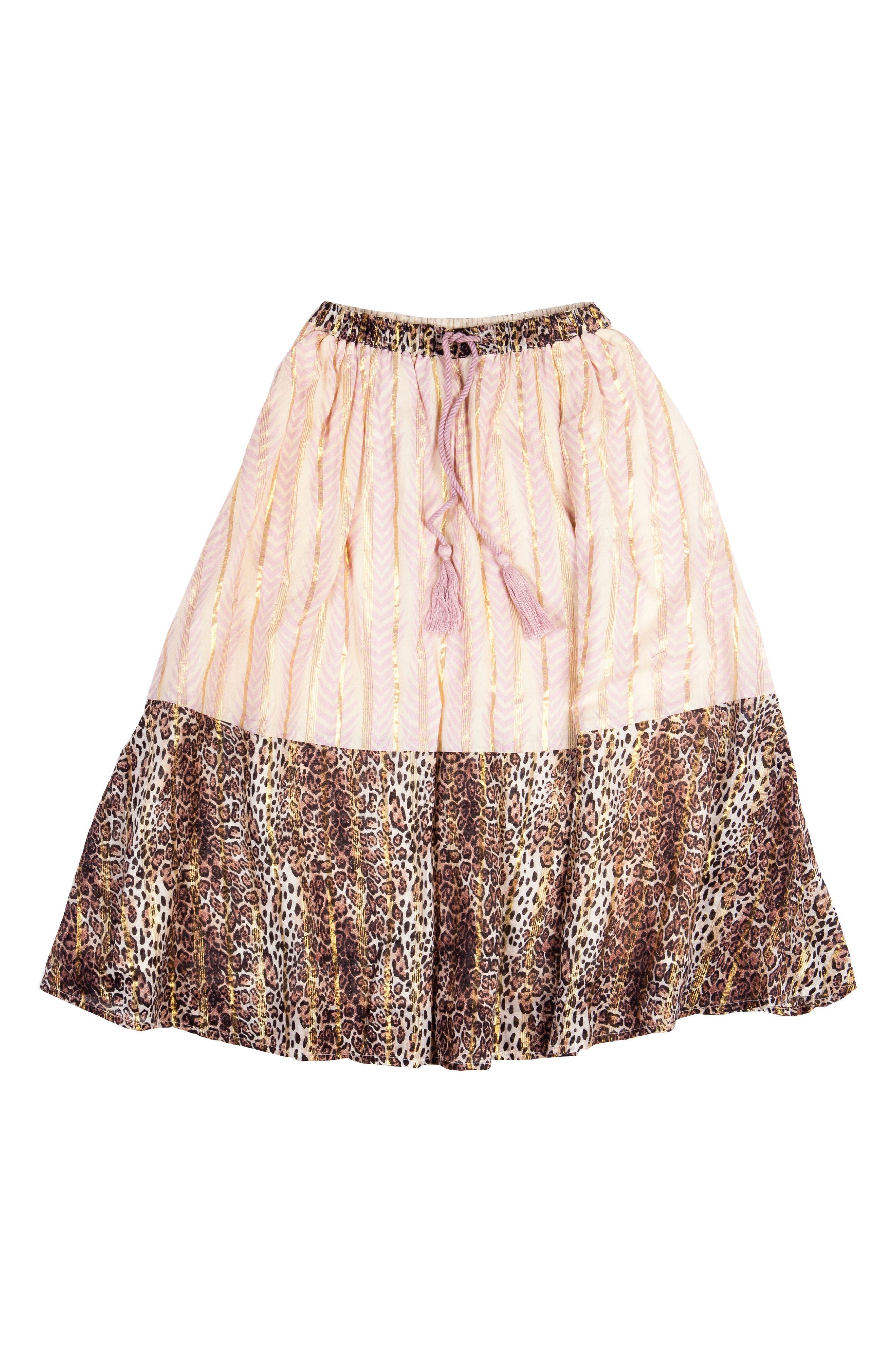Print Skirt,                         Main,                         color, Leopard W/ Lavender