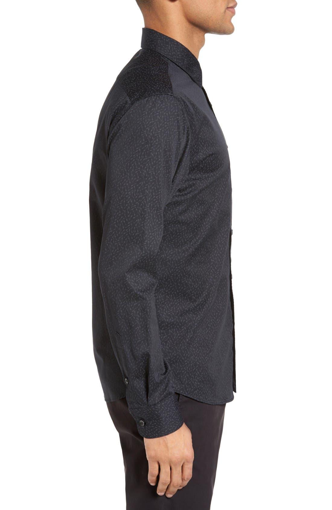 Alternate Image 3  - Slate & Stone Slim Fit Arrow Print Sport Shirt