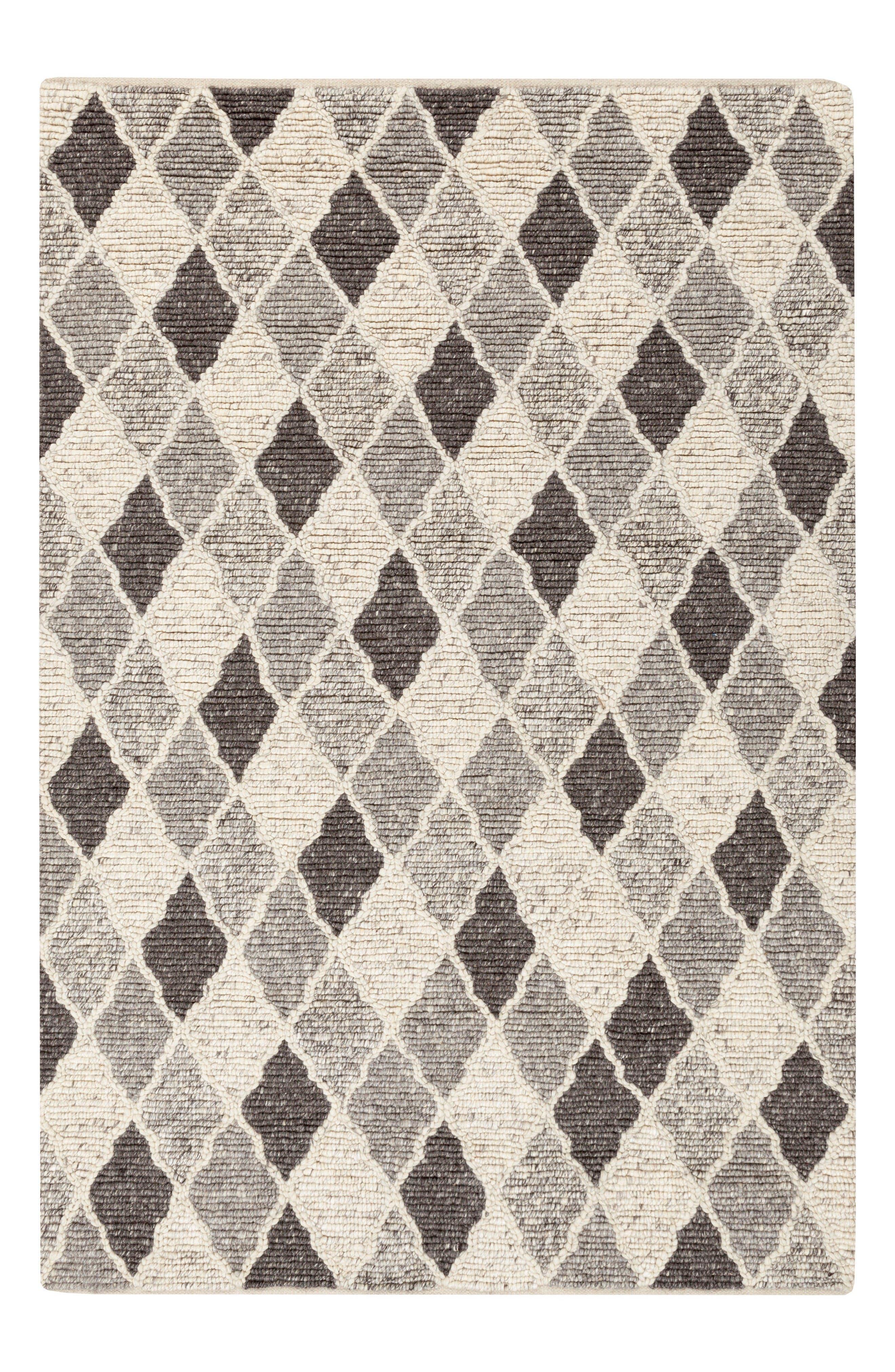 Nico Handwoven Shag Rug,                             Main thumbnail 1, color,                             Charcoal