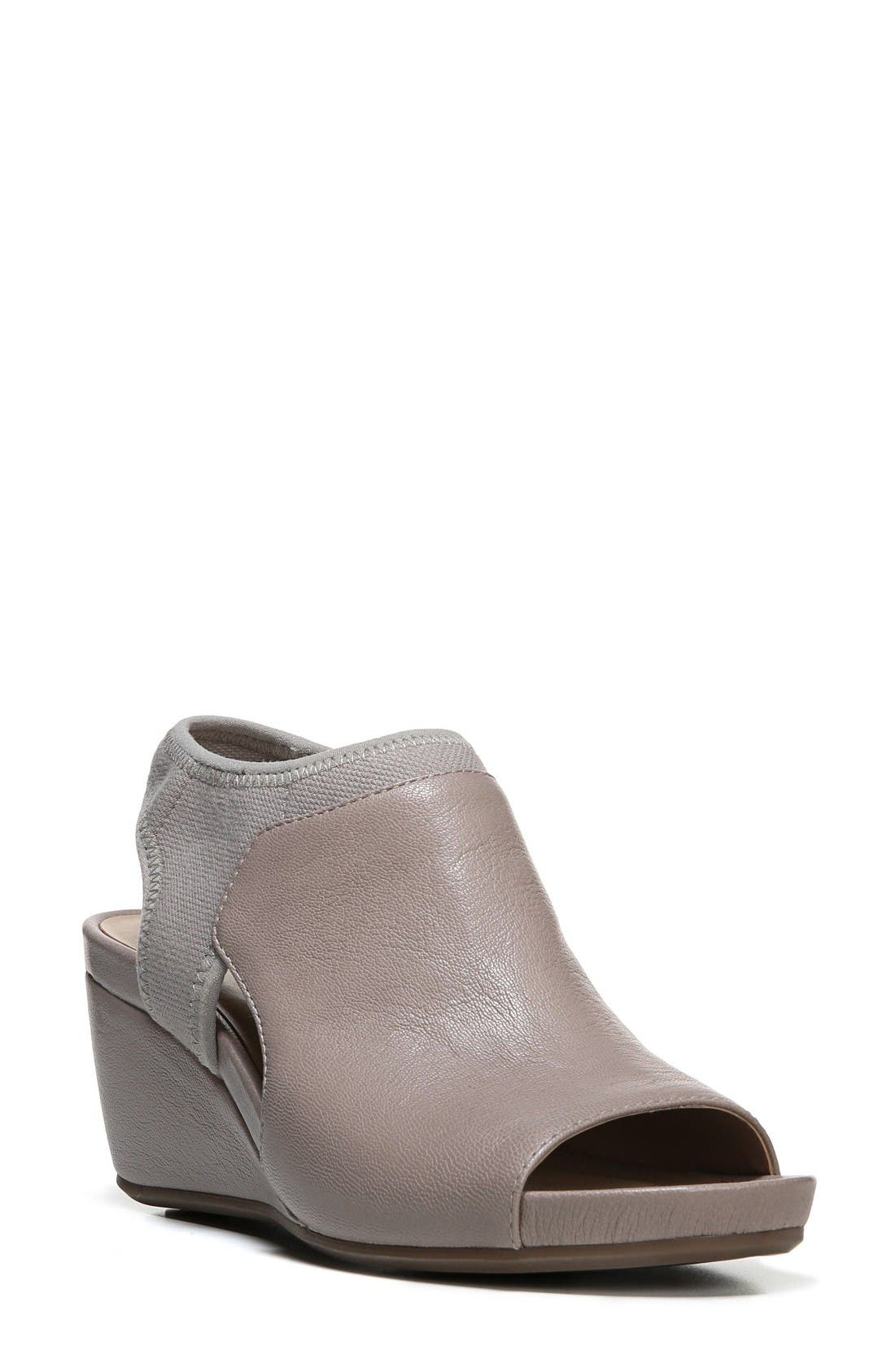 Cailla Shield Sandal,                         Main,                         color, Grey Leather