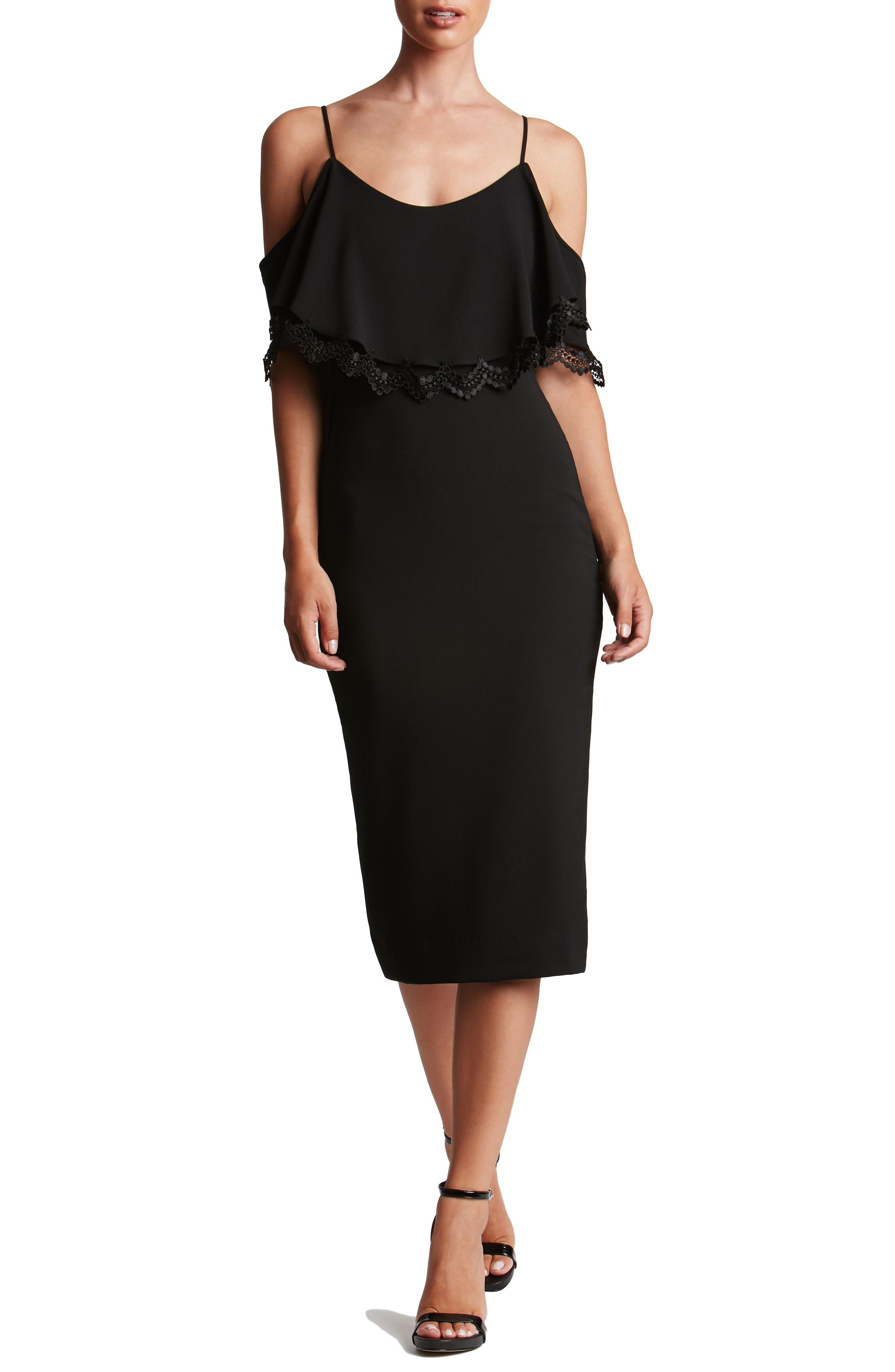 Alternate Image 4  - Dress the Population Beth Cold Shoulder Dress