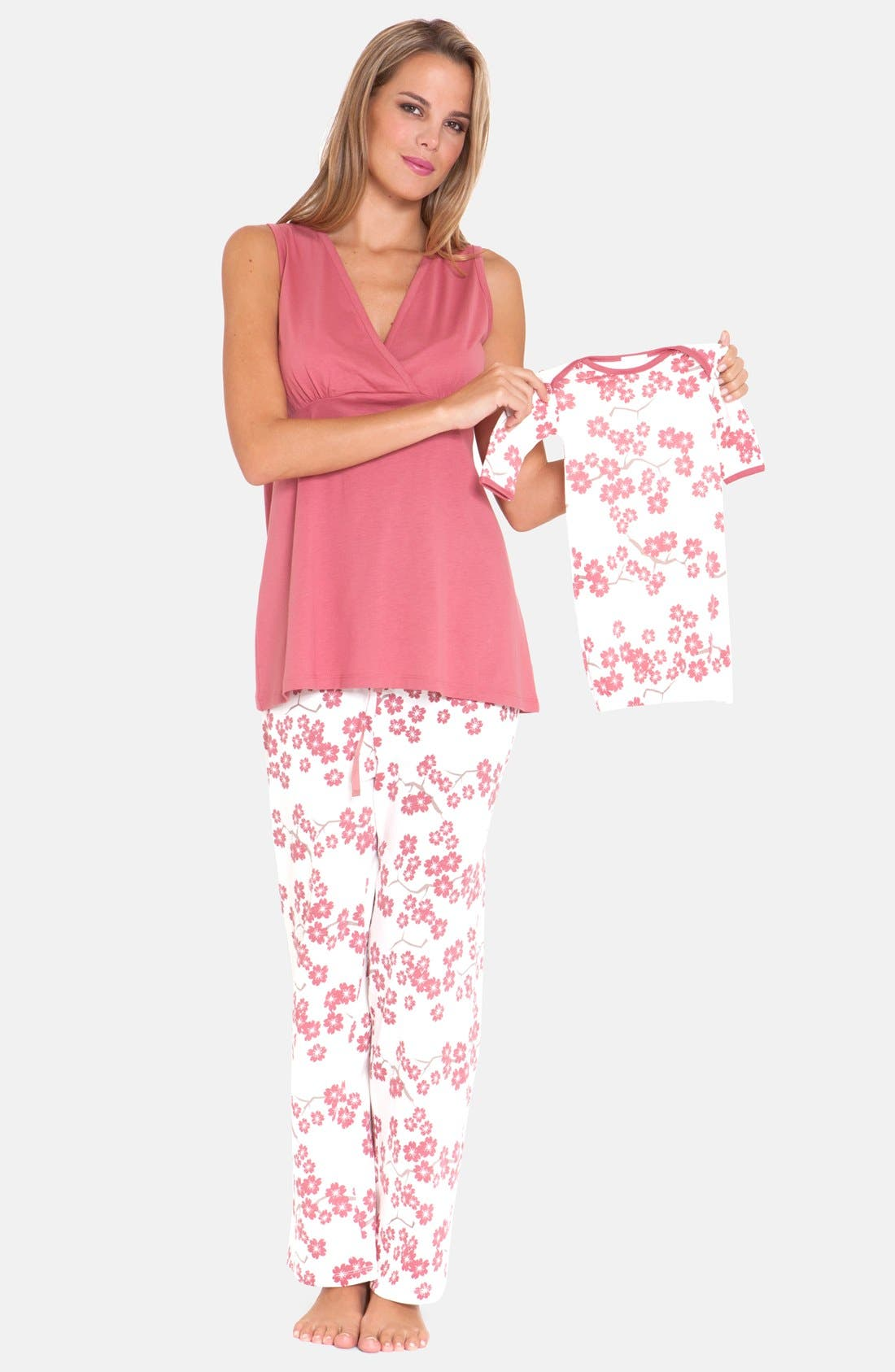 Olian 4-Piece Maternity Sleepwear Gift Set