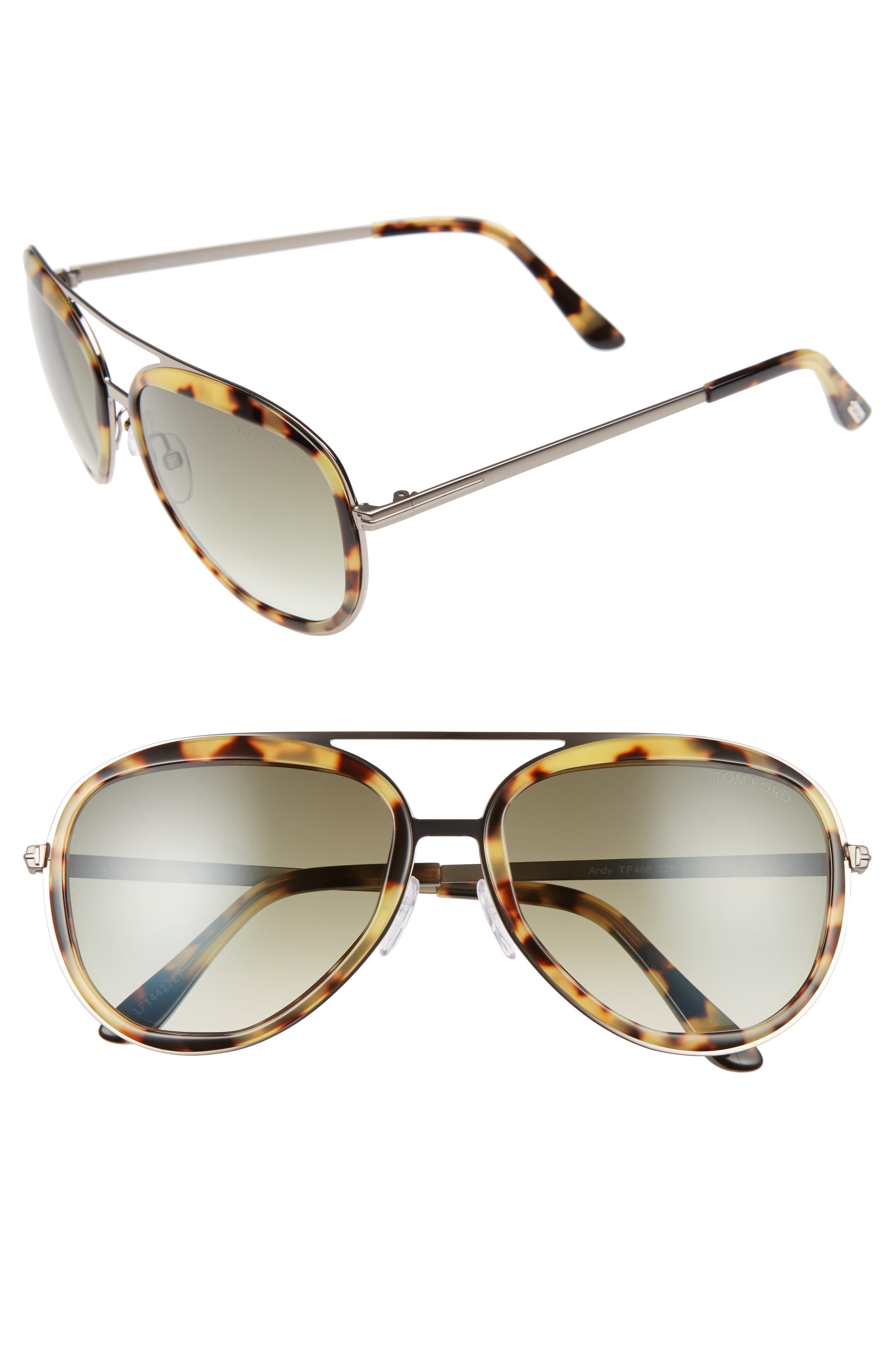 Main Image - Tom Ford Andy 58mm Aviator Sunglasses