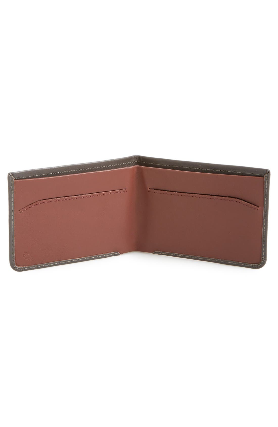 Low Down Leather Wallet,                             Alternate thumbnail 2, color,                             Charcoal
