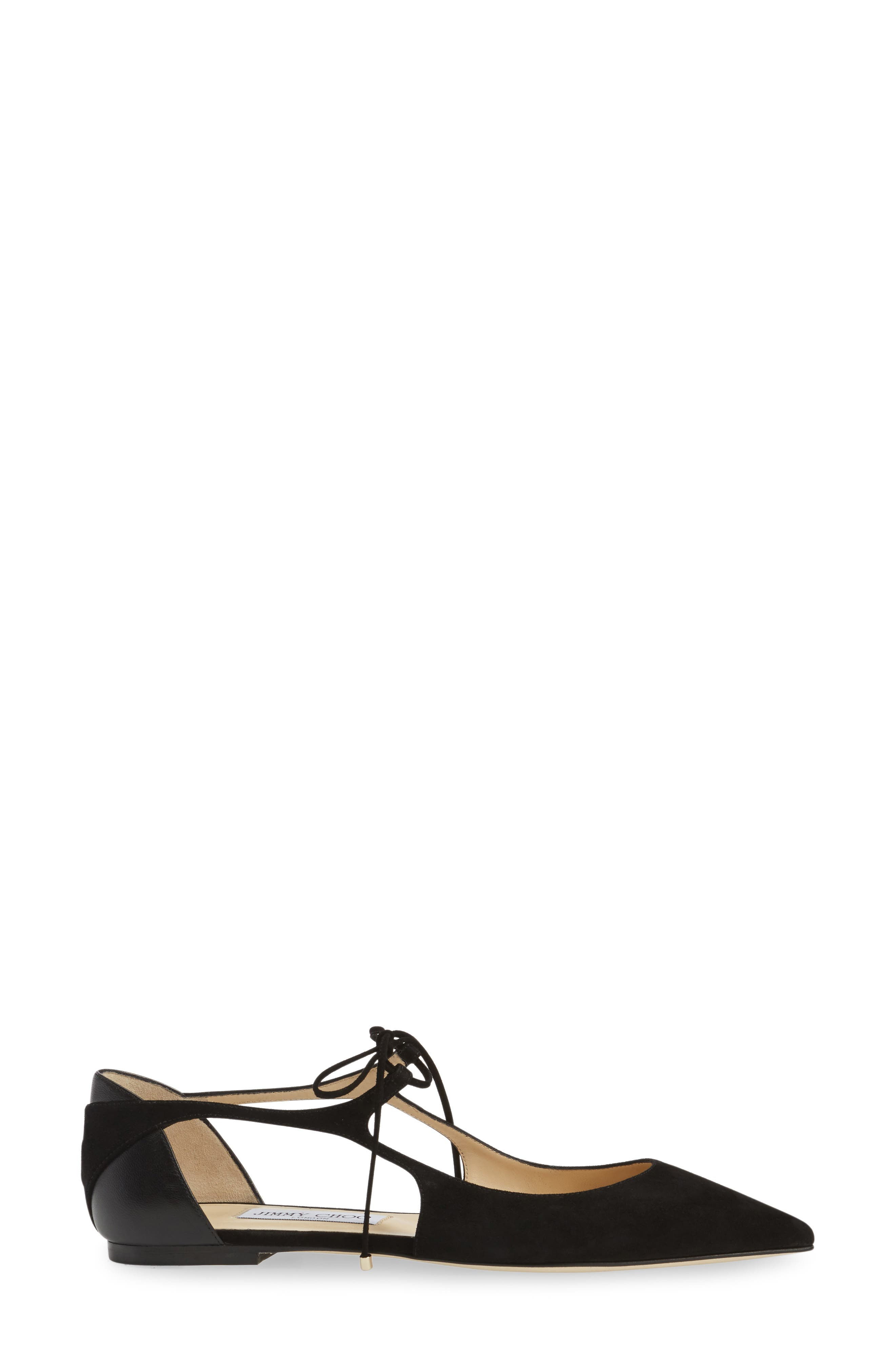 Alternate Image 4  - Jimmy Choo Vanessa Lace-Up Flat (Women)