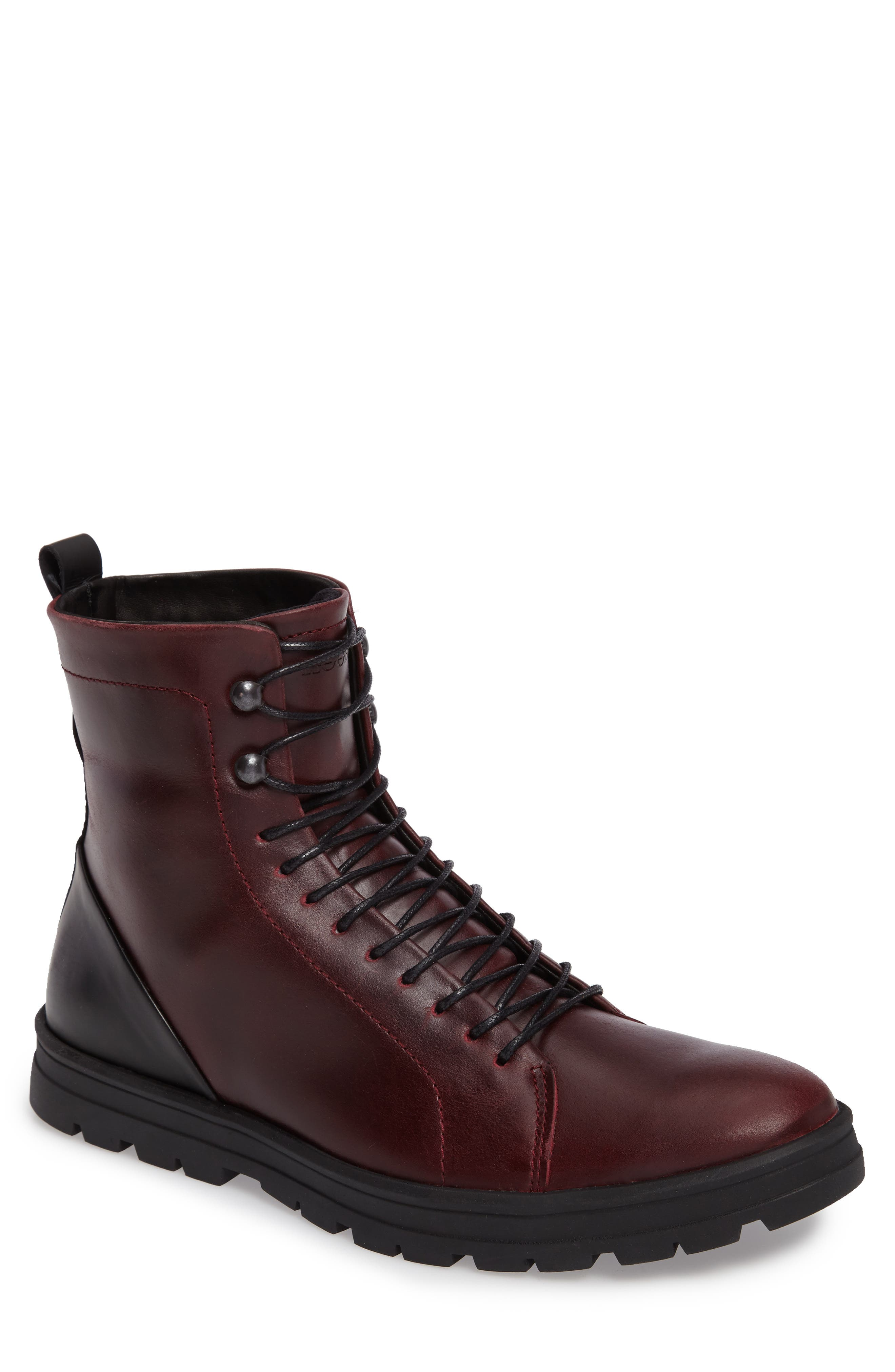 Hudson Waterproof Tall Boot,                             Main thumbnail 1, color,                             Bordeaux Leather