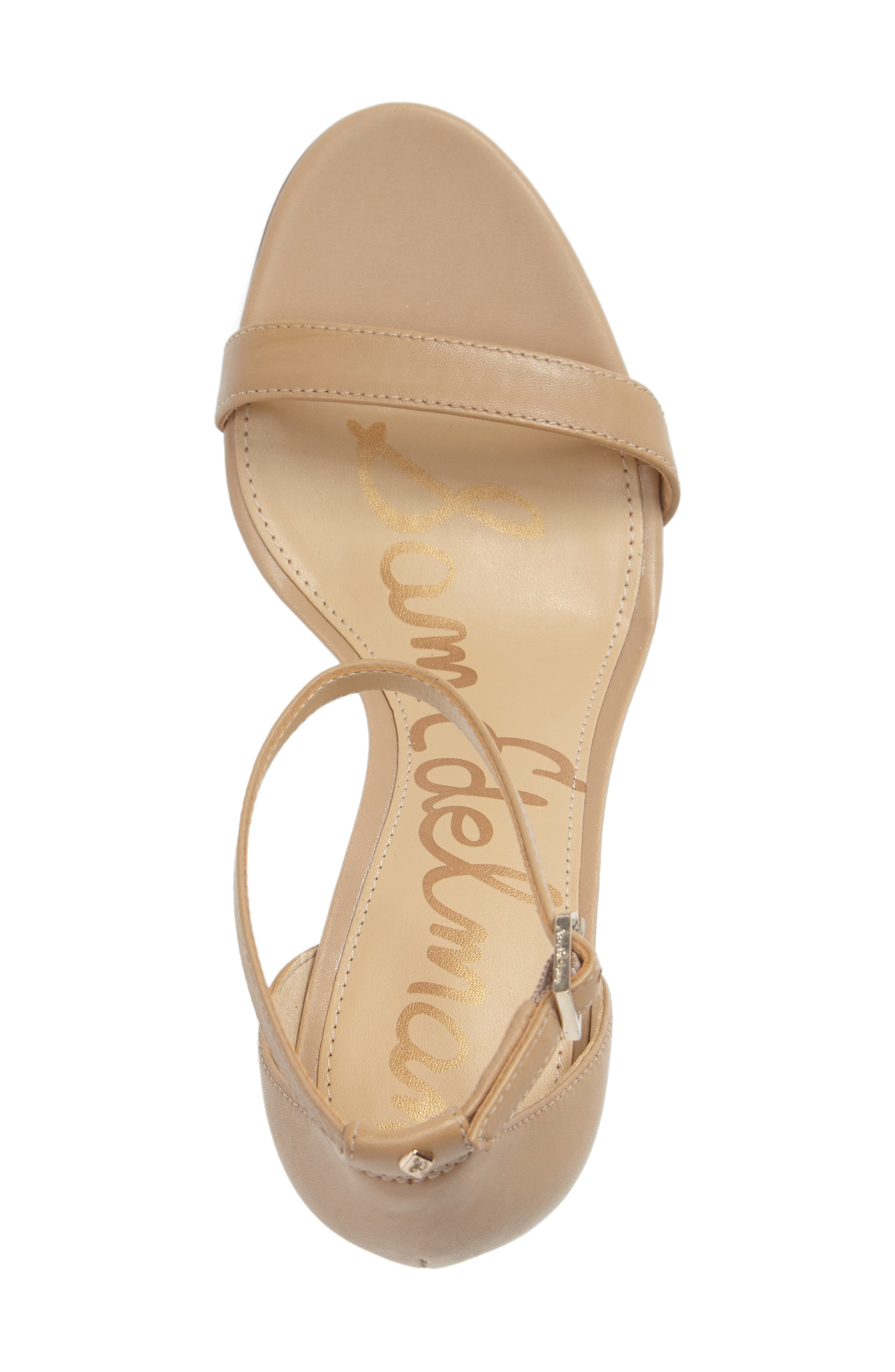 Patti Strappy Sandal,                             Alternate thumbnail 3, color,                             Classic Nude Leather
