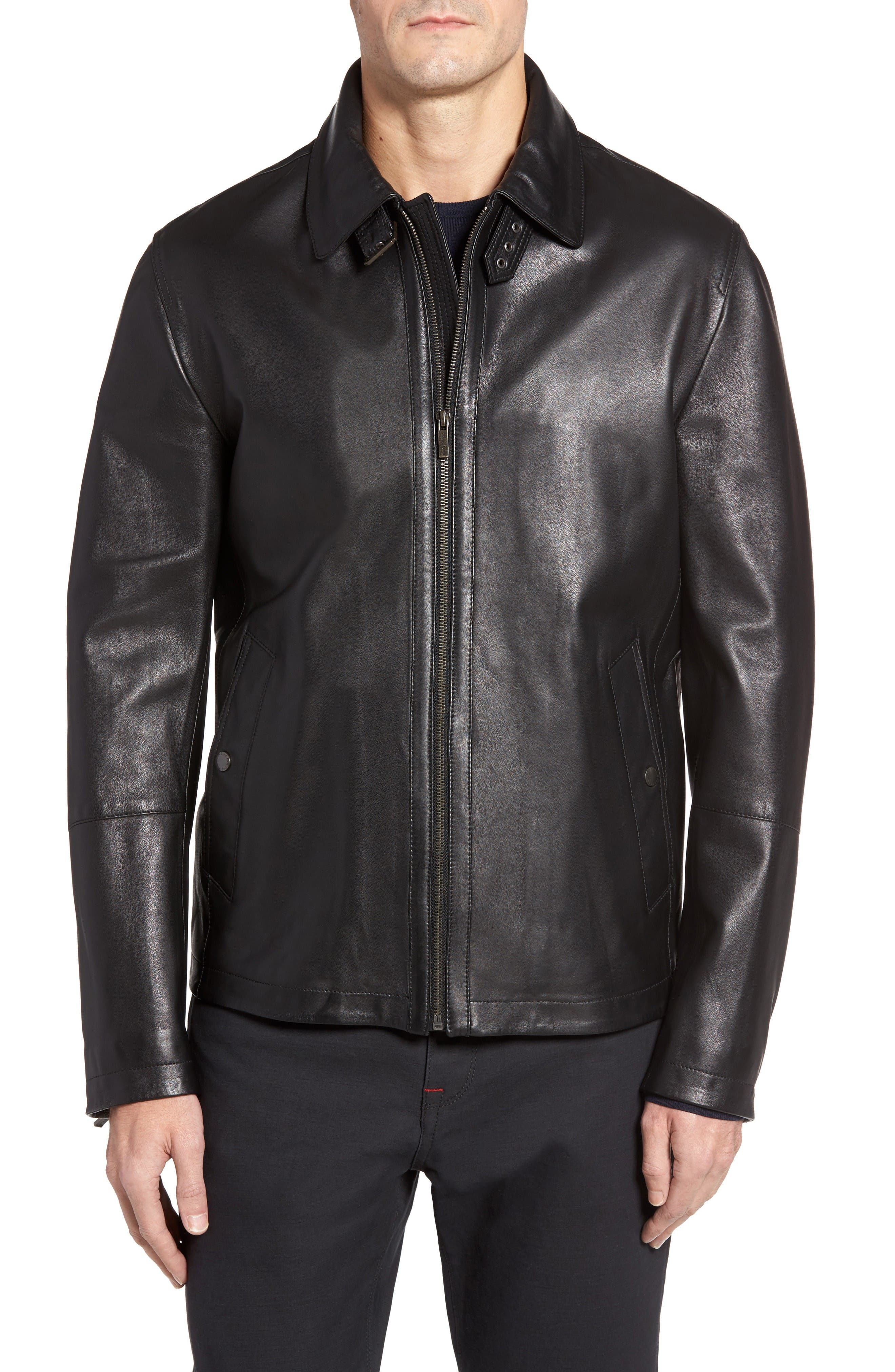 Cole Haan Lamb Leather Jacket