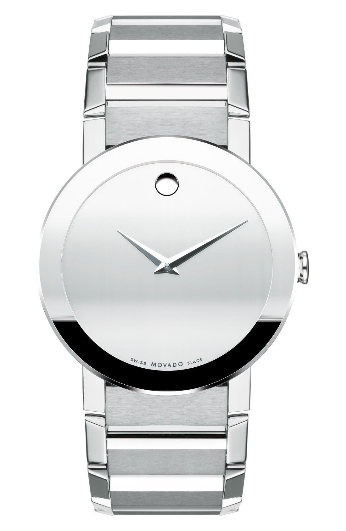 Main Image - Movado Sapphire Bracelet Watch, 38mm