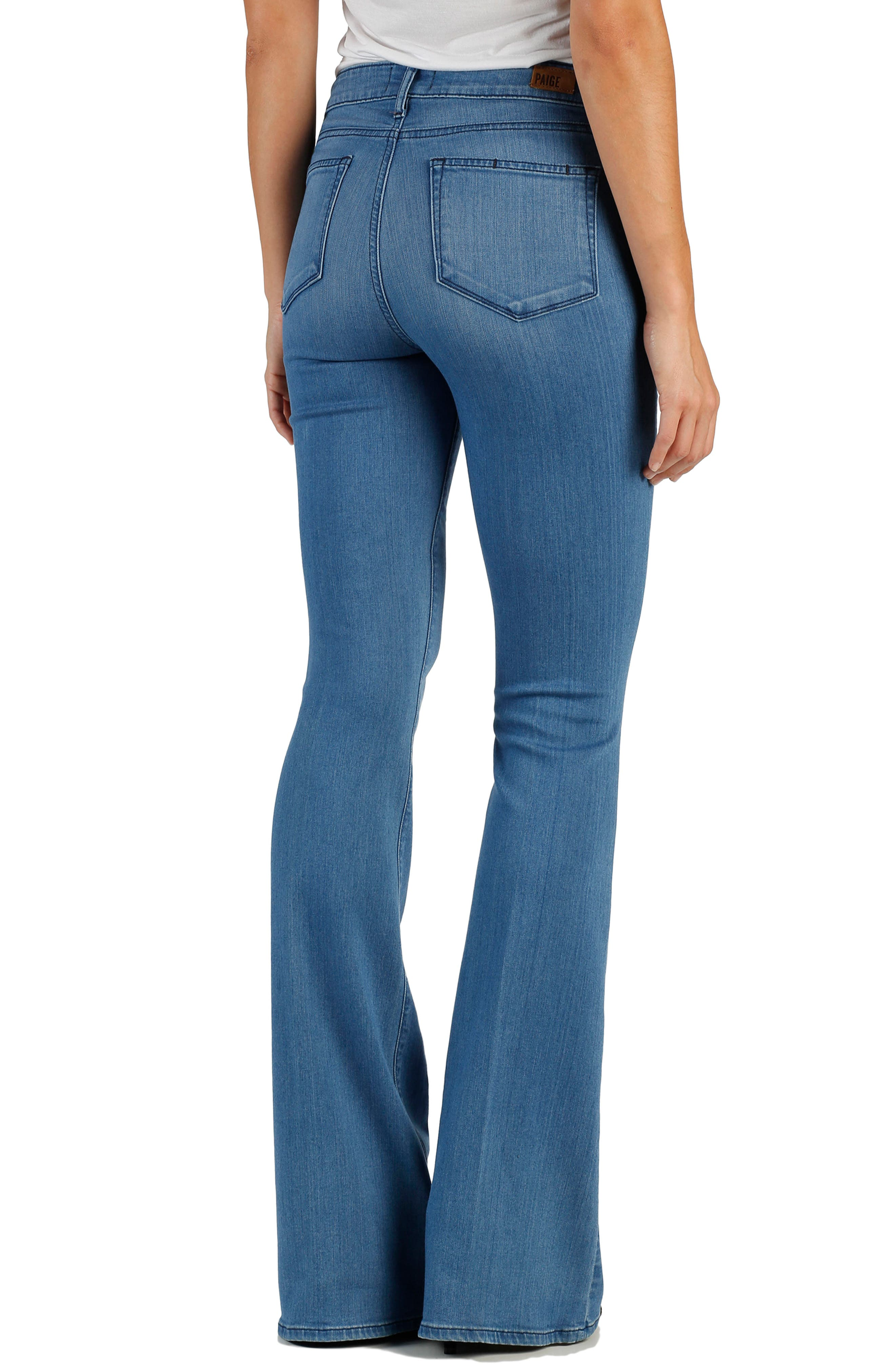 Transcend - Bell Canyon High Waist Flare Jeans,                             Alternate thumbnail 2, color,                             Harbor
