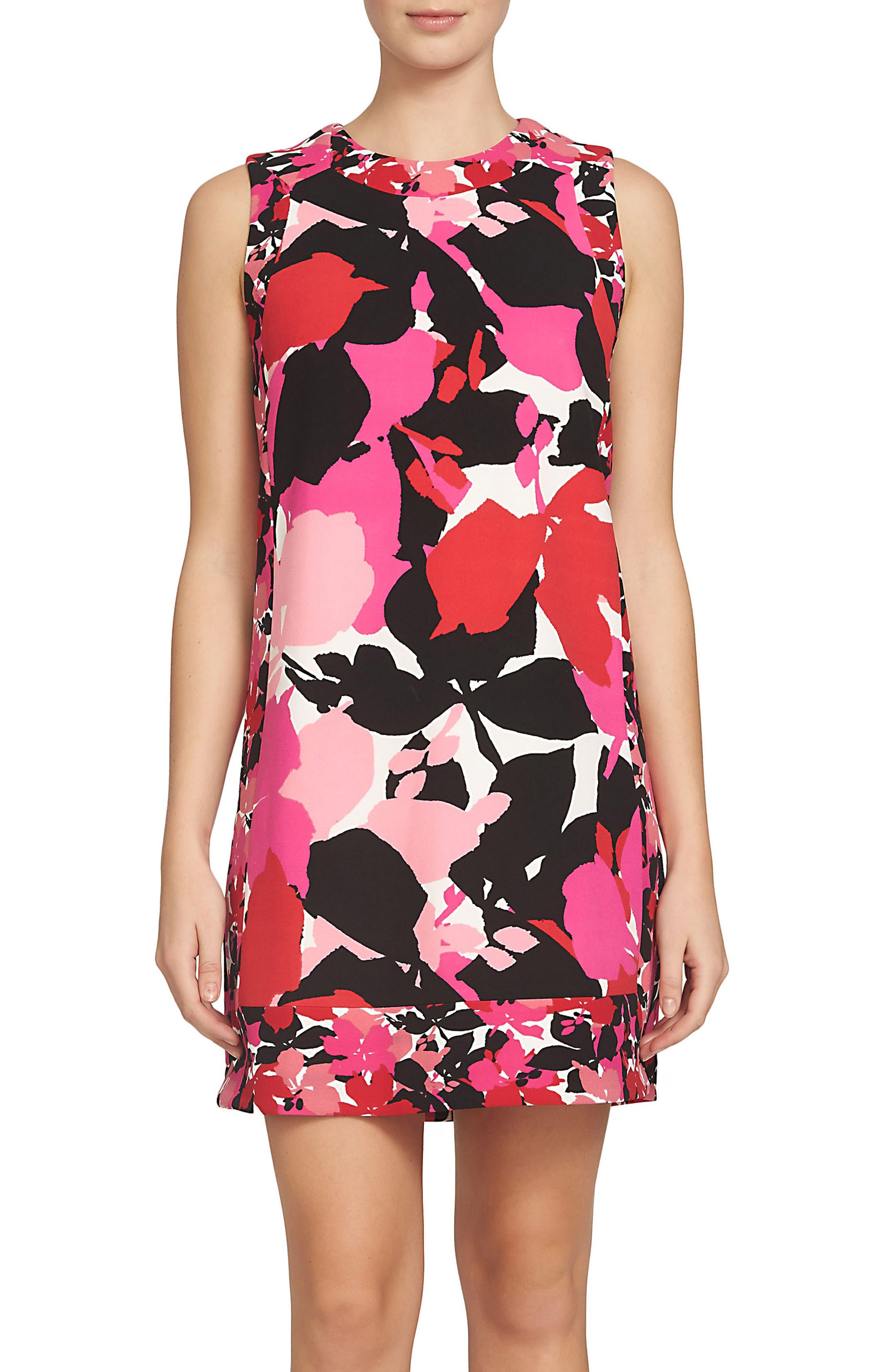 Stella Shift Dress,                         Main,                         color, Peony Rush