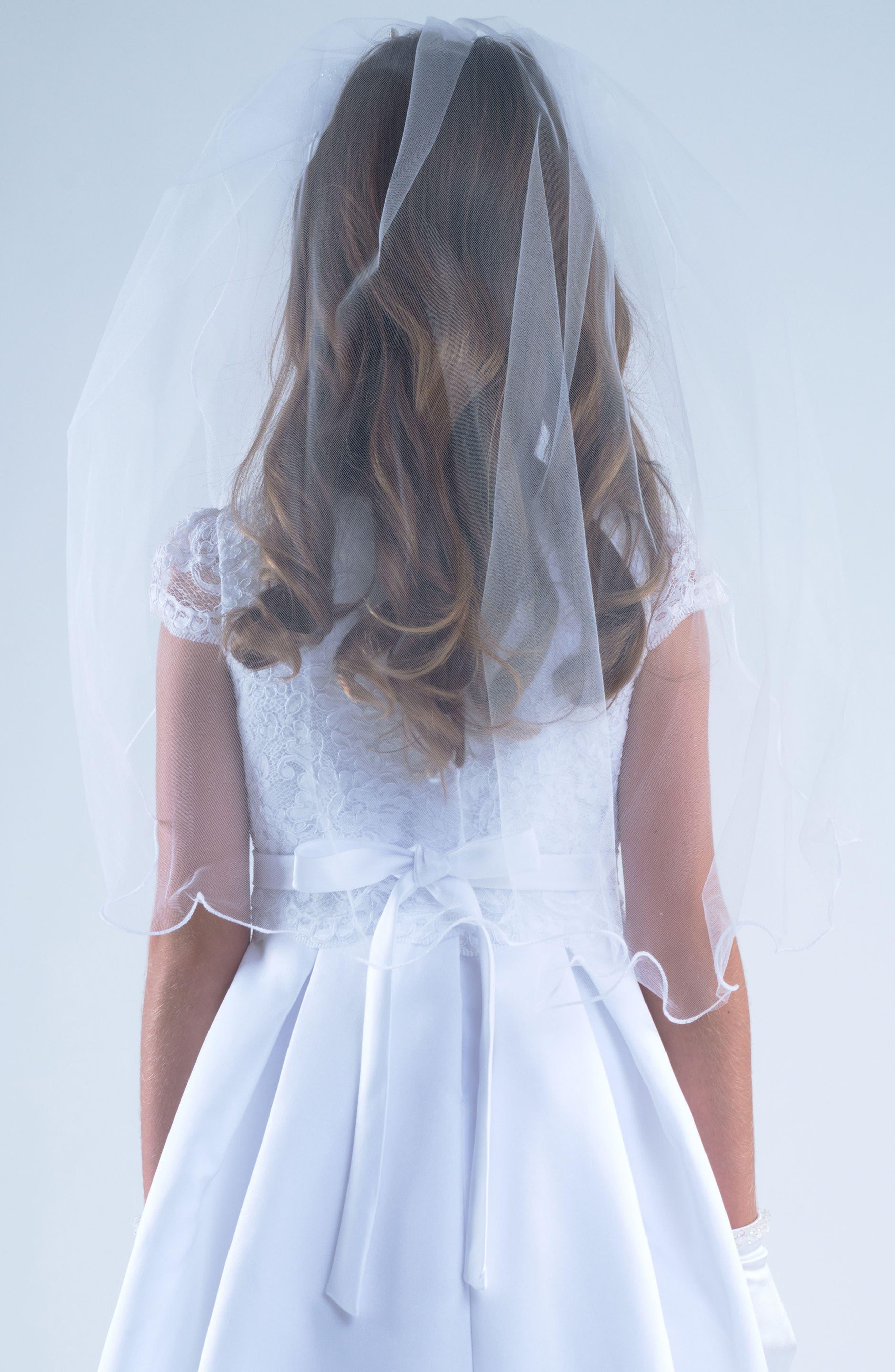 Alternate Image 2  - Us Angels Tiara with Veil