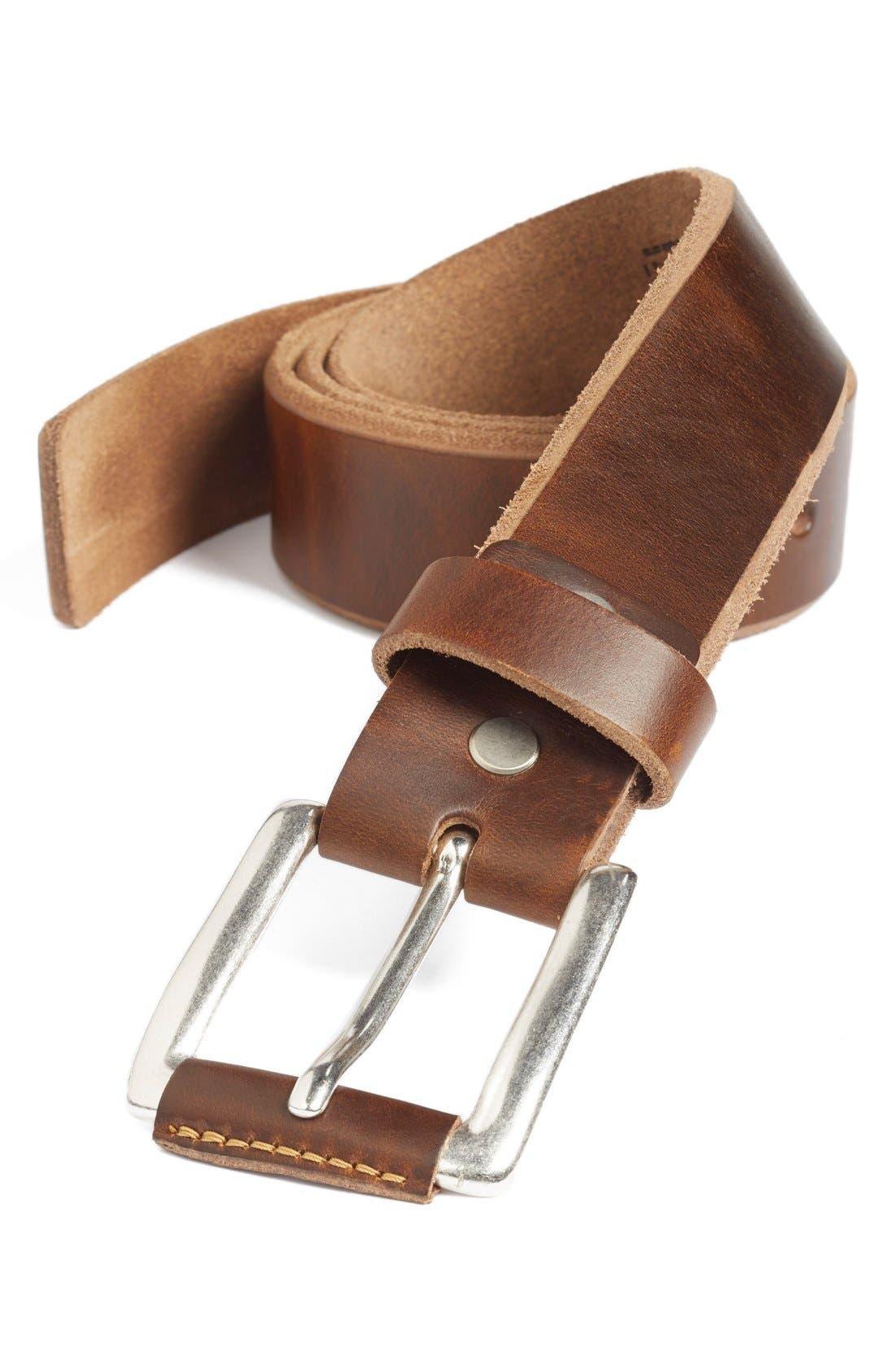 'Coraggio' Leather Belt,                         Main,                         color, Honey