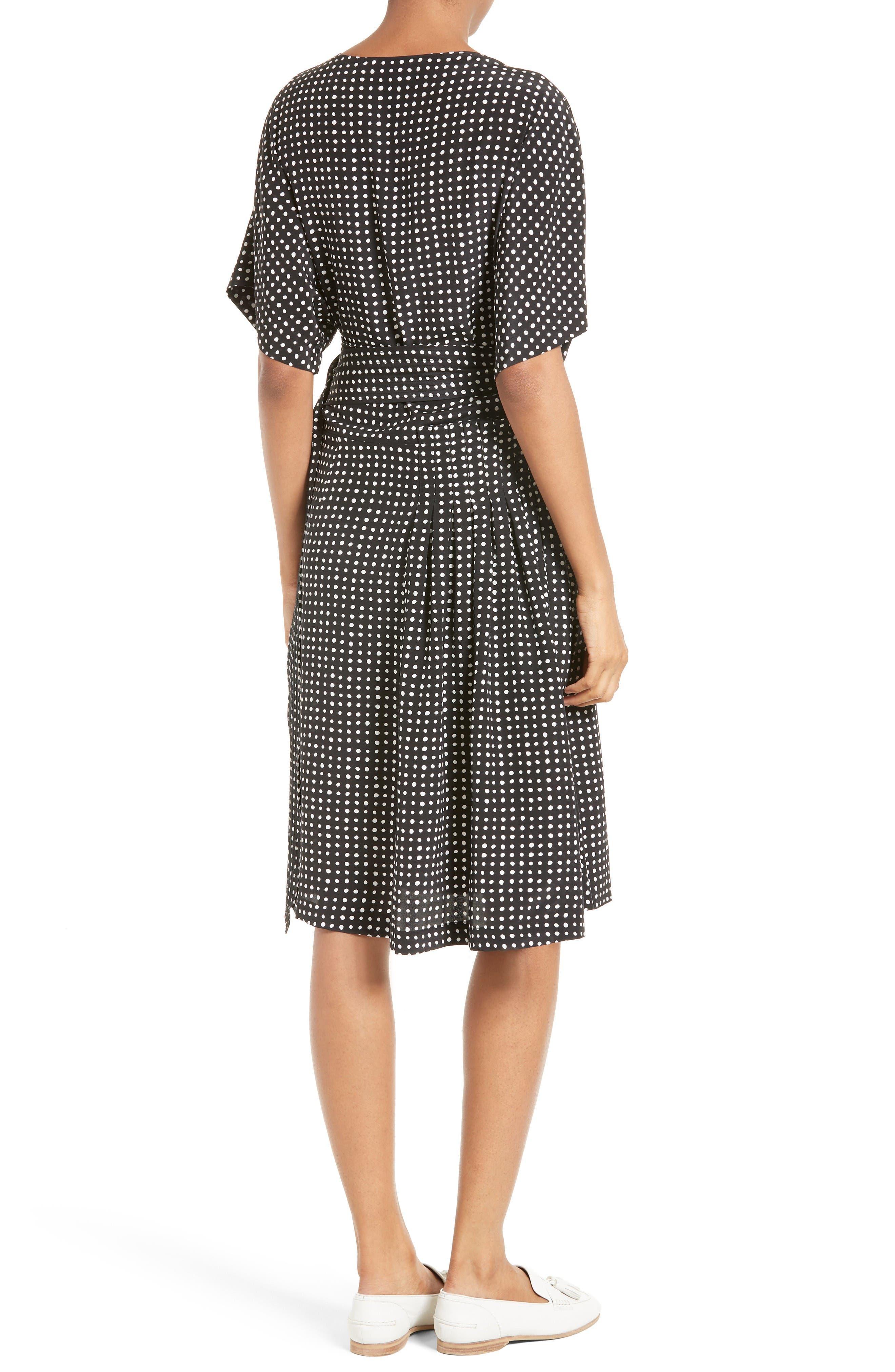Alternate Image 2  - Diane von Furstenberg Polka Dot Silk D-Ring Wrap Dress