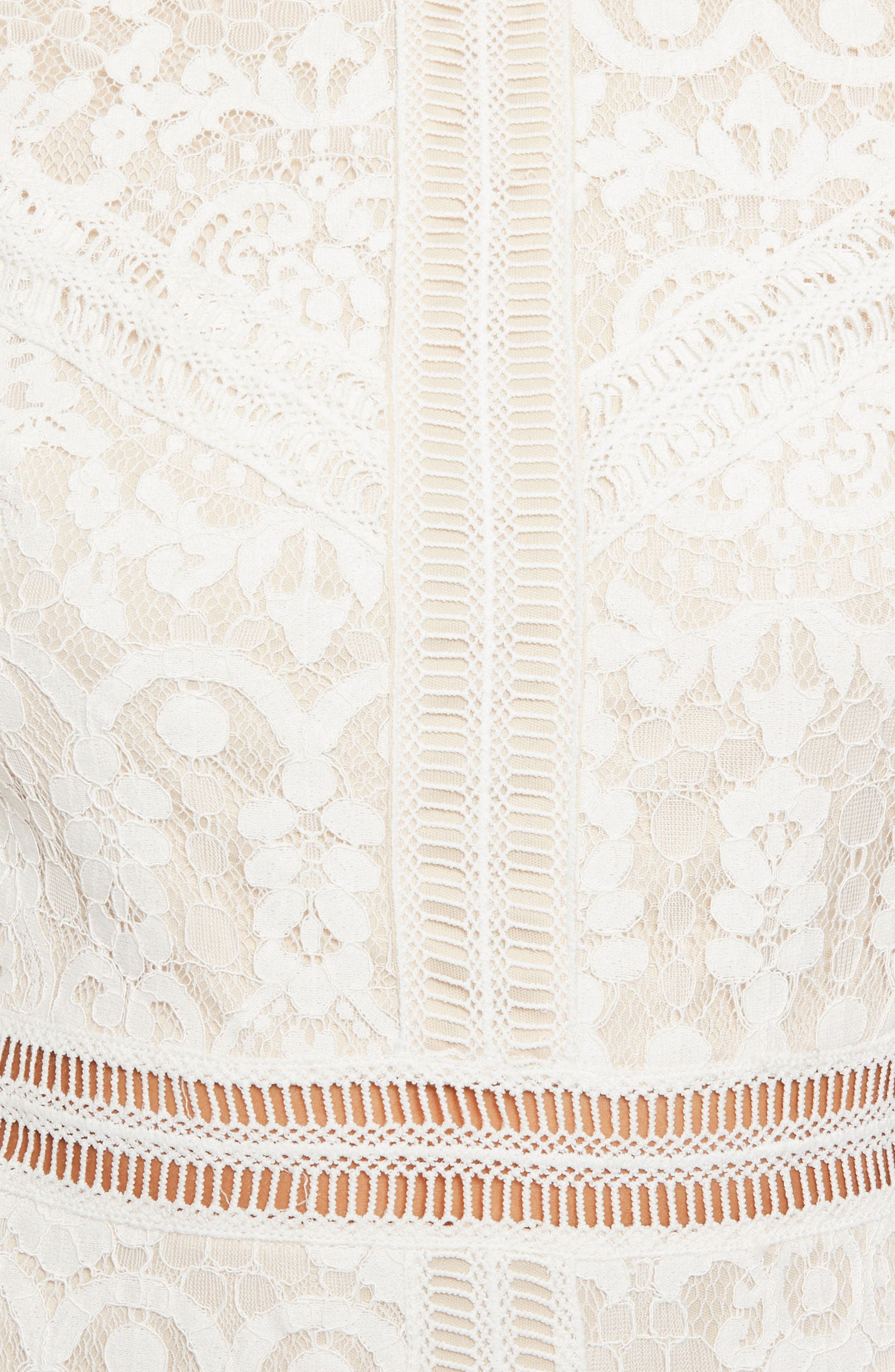 Alternate Image 4  - Missguided Ladder Stitch Lace Dress