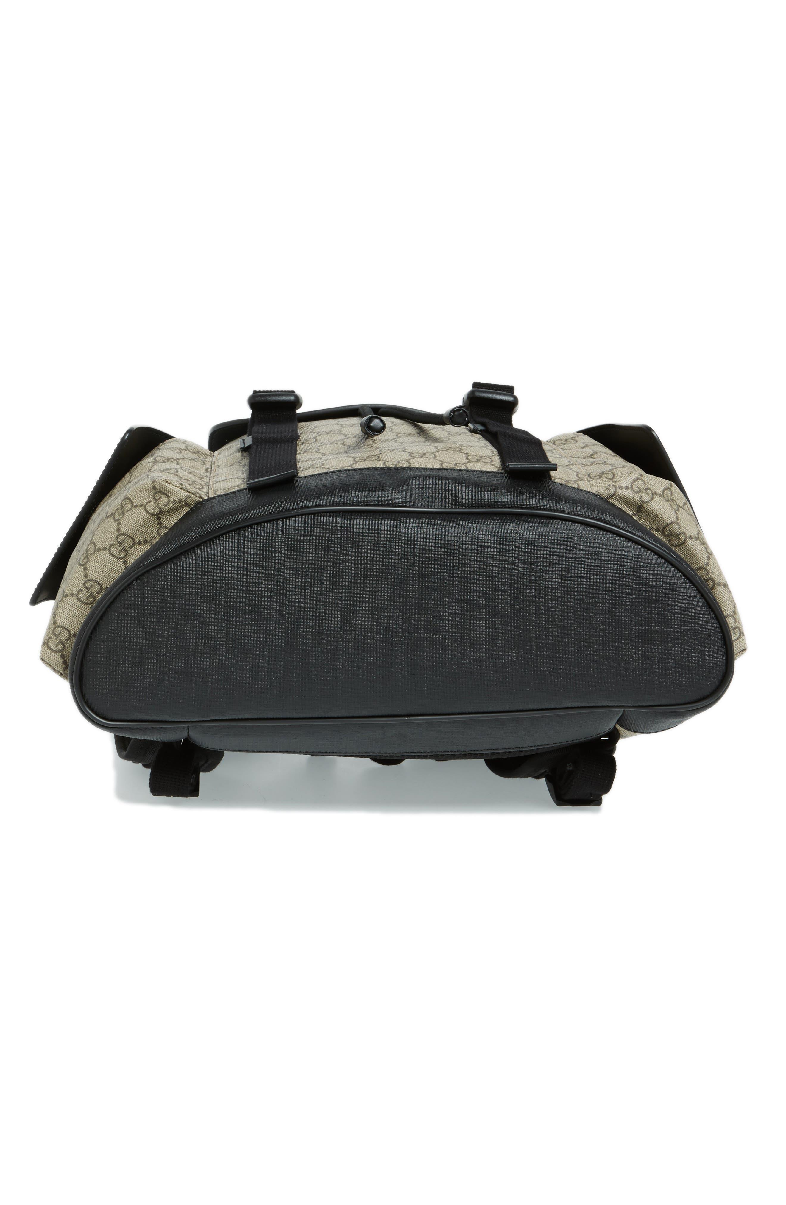 Alternate Image 6  - Gucci Eden Flap Top Canvas Backpack