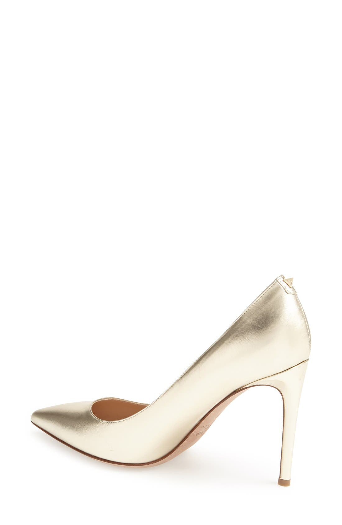 'Rockstud' Pump,                             Alternate thumbnail 2, color,                             Platino