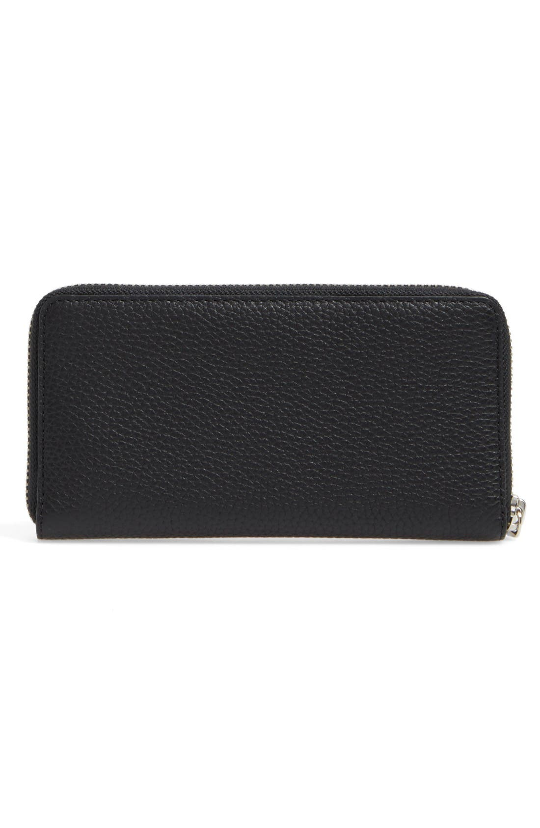 Vertical Zippy Wallet,                             Alternate thumbnail 4, color,                             Black